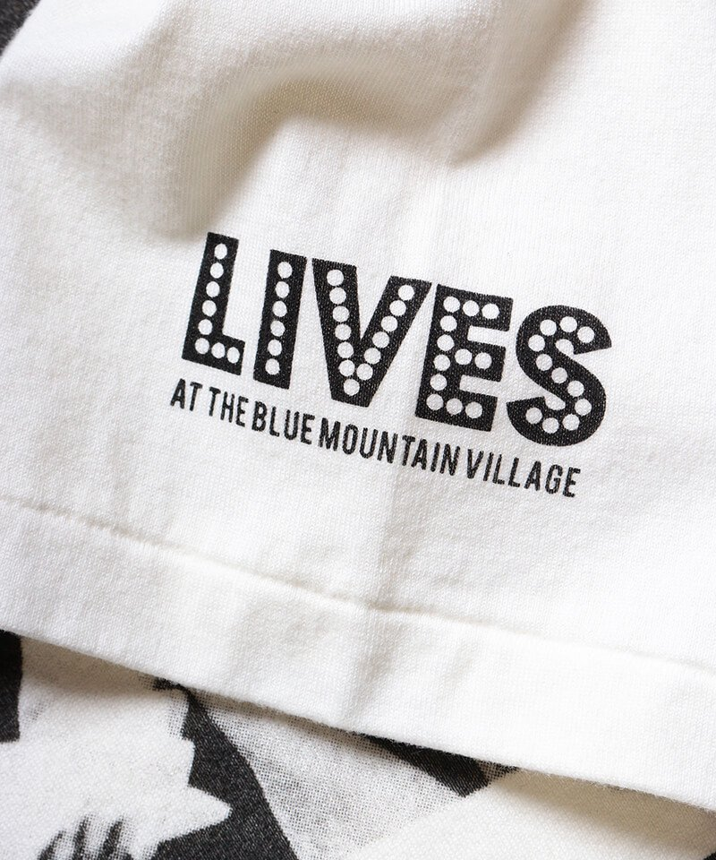 RALEIGH / ラリー(RED MOTEL / レッドモーテル)   RBC WORLD NEWS 3/4 SLEEVE T-SHIRTS (Loose Fit / WH) 商品画像6