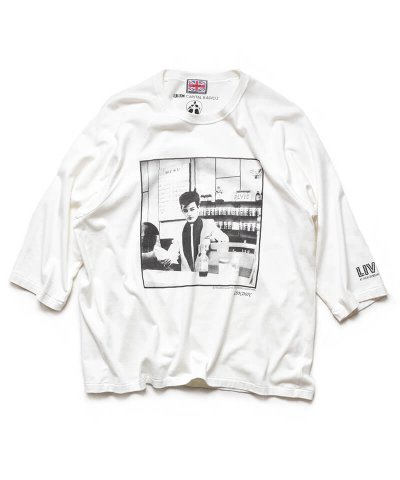 RALEIGH / ラリー(RED MOTEL / レッドモーテル) /  RBC WORLD NEWS 3/4 SLEEVE T-SHIRTS (Loose Fit / WH)