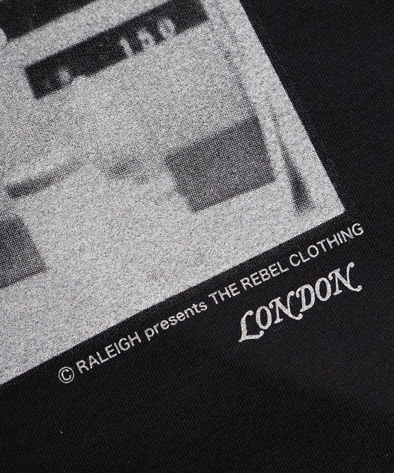 RALEIGH / ラリー(RED MOTEL / レッドモーテル) | RBC WORLD NEWS 3/4 SLEEVE T-SHIRTS (Loose Fit / BK) 商品画像5