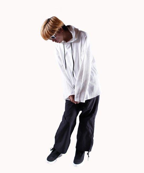NIL DUE / NIL UN TOKYO / ニル デュエ / ニル アン トーキョー   PULLOVER WAFFLE HOODIE (WHITE) 商品画像10