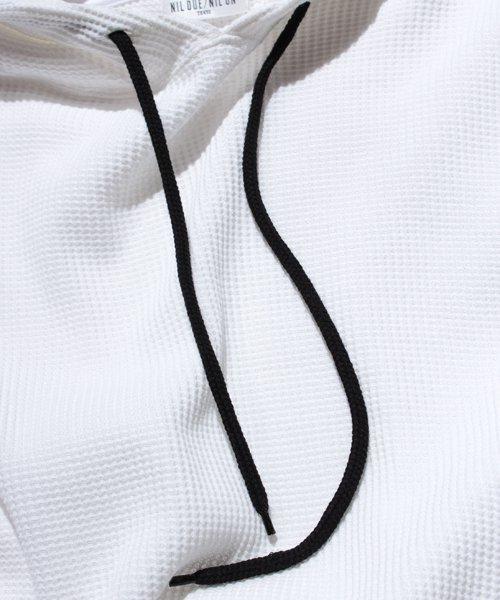 NIL DUE / NIL UN TOKYO / ニル デュエ / ニル アン トーキョー   PULLOVER WAFFLE HOODIE (WHITE) 商品画像7