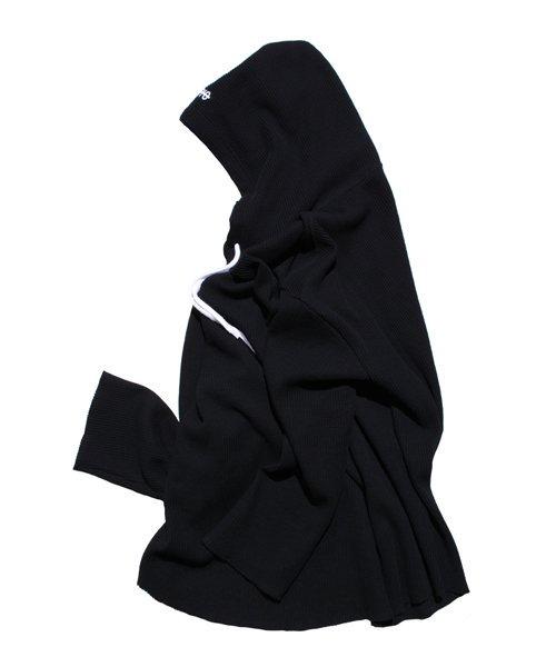NIL DUE / NIL UN TOKYO / ニル デュエ / ニル アン トーキョー | PULLOVER WAFFLE HOODIE (BLACK) 商品画像1