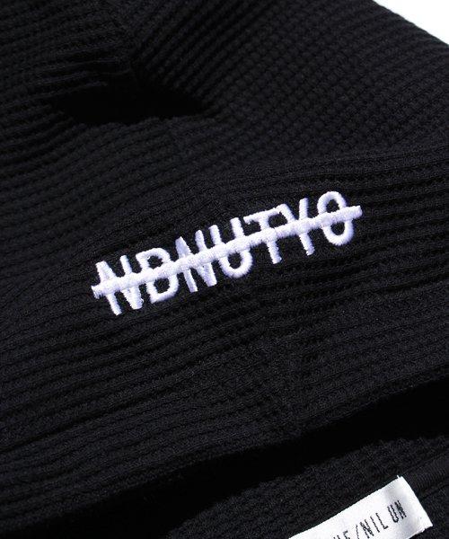 NIL DUE / NIL UN TOKYO / ニル デュエ / ニル アン トーキョー | PULLOVER WAFFLE HOODIE (BLACK) 商品画像5