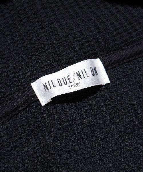NIL DUE / NIL UN TOKYO / ニル デュエ / ニル アン トーキョー | PULLOVER WAFFLE HOODIE (BLACK) 商品画像6