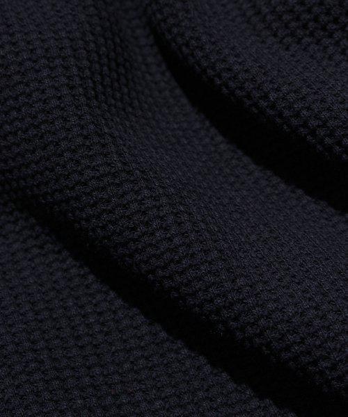 NIL DUE / NIL UN TOKYO / ニル デュエ / ニル アン トーキョー | PULLOVER WAFFLE HOODIE (BLACK) 商品画像9
