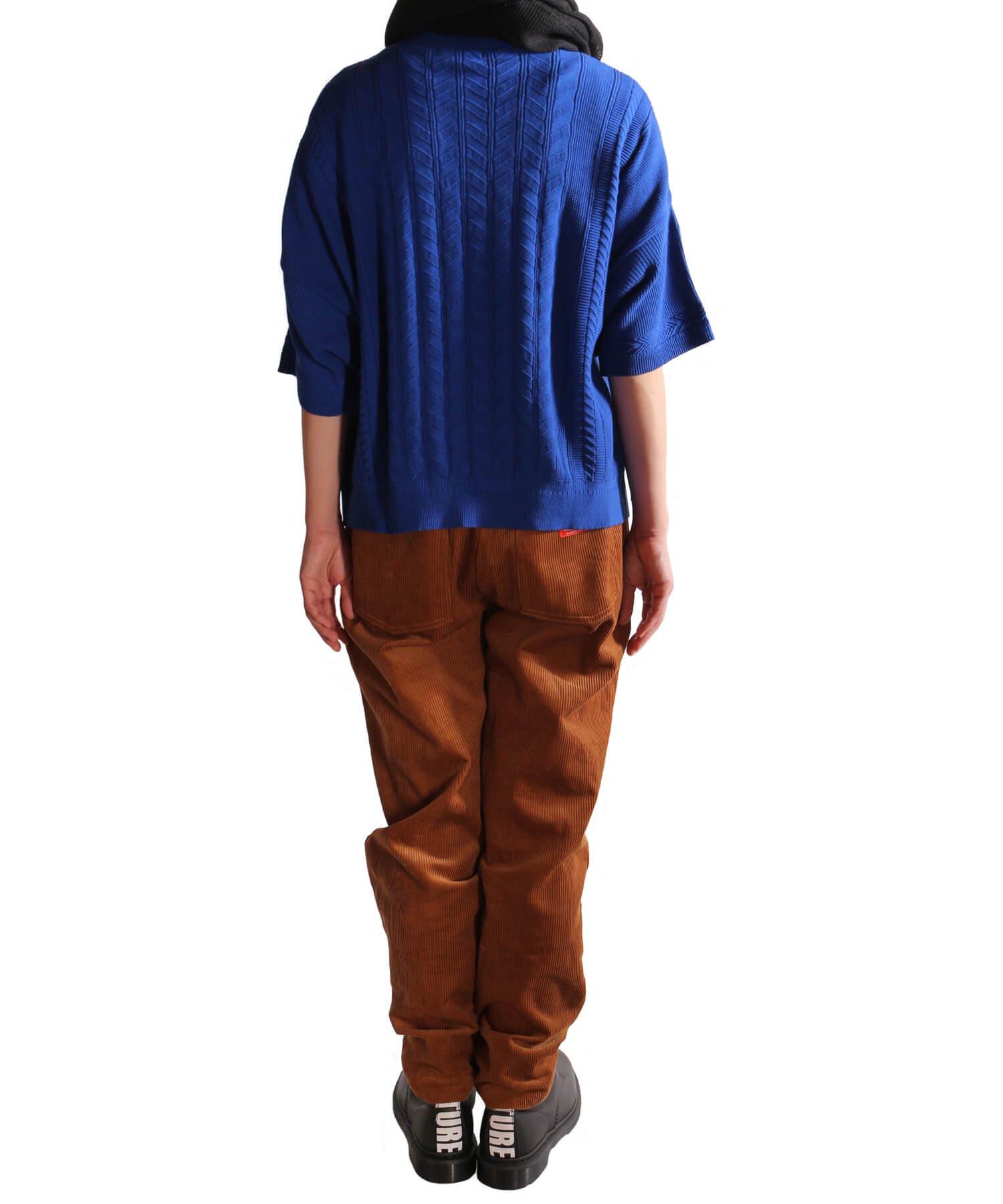YASHIKI / ヤシキ |YASHIKI / ヤシキ × SIDEMILITIA inc. / サイドミリティア  RYUREI KNIT (LIMITED BLUE/WOMEN'S) 商品画像12