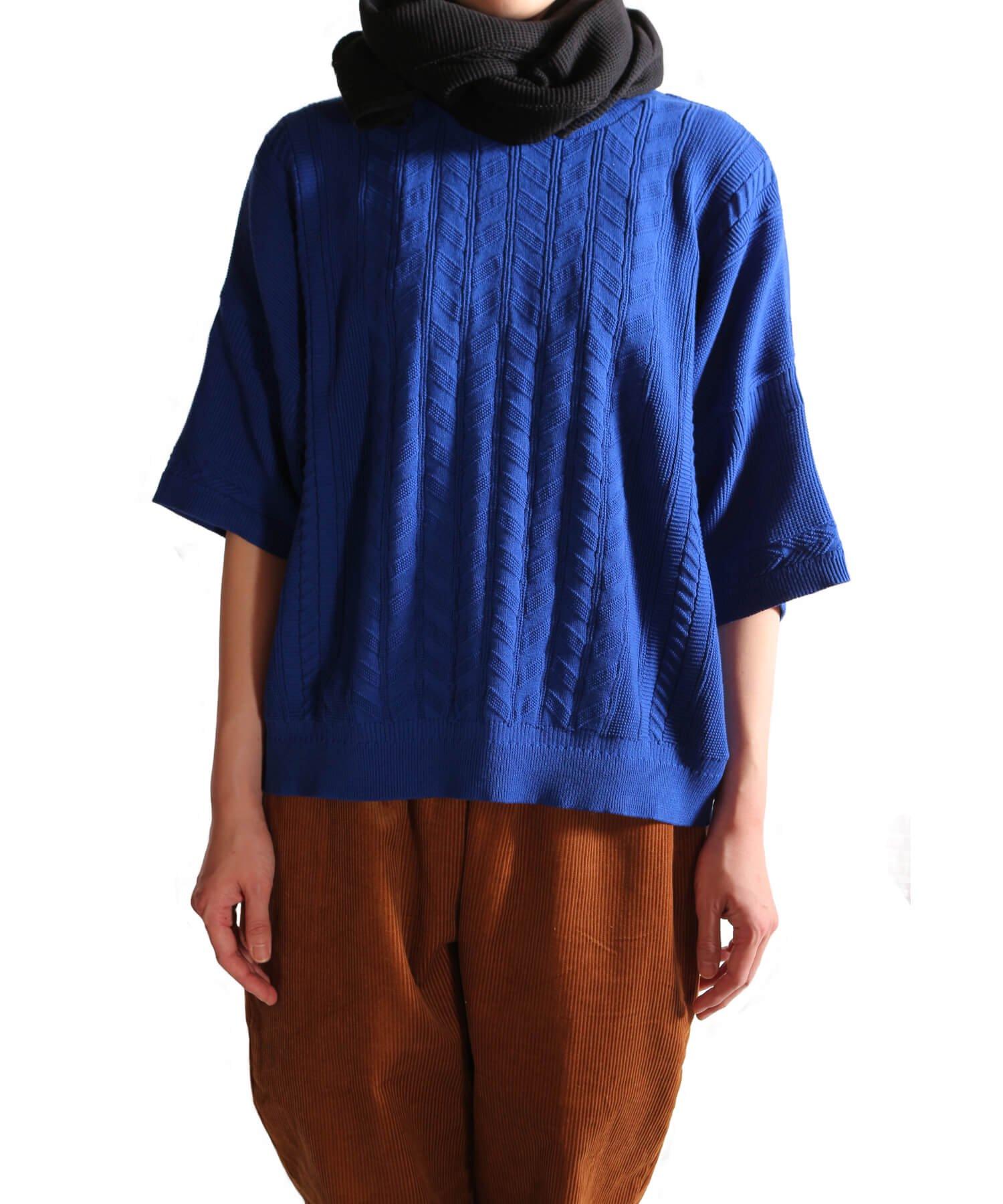 YASHIKI / ヤシキ |YASHIKI / ヤシキ × SIDEMILITIA inc. / サイドミリティア  RYUREI KNIT (LIMITED BLUE/WOMEN'S) 商品画像13