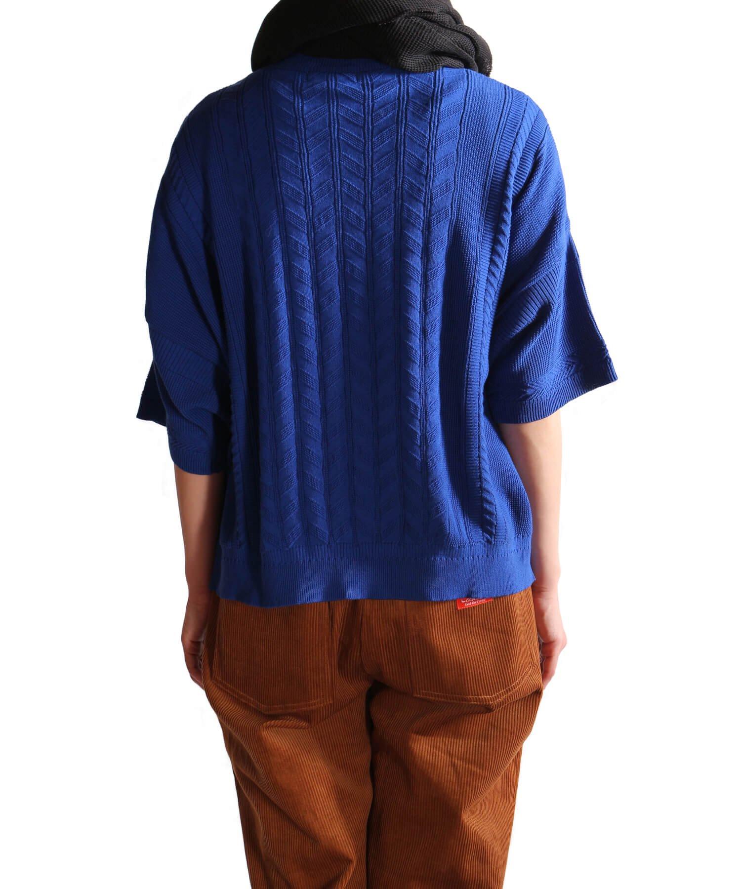YASHIKI / ヤシキ |YASHIKI / ヤシキ × SIDEMILITIA inc. / サイドミリティア  RYUREI KNIT (LIMITED BLUE/WOMEN'S) 商品画像14
