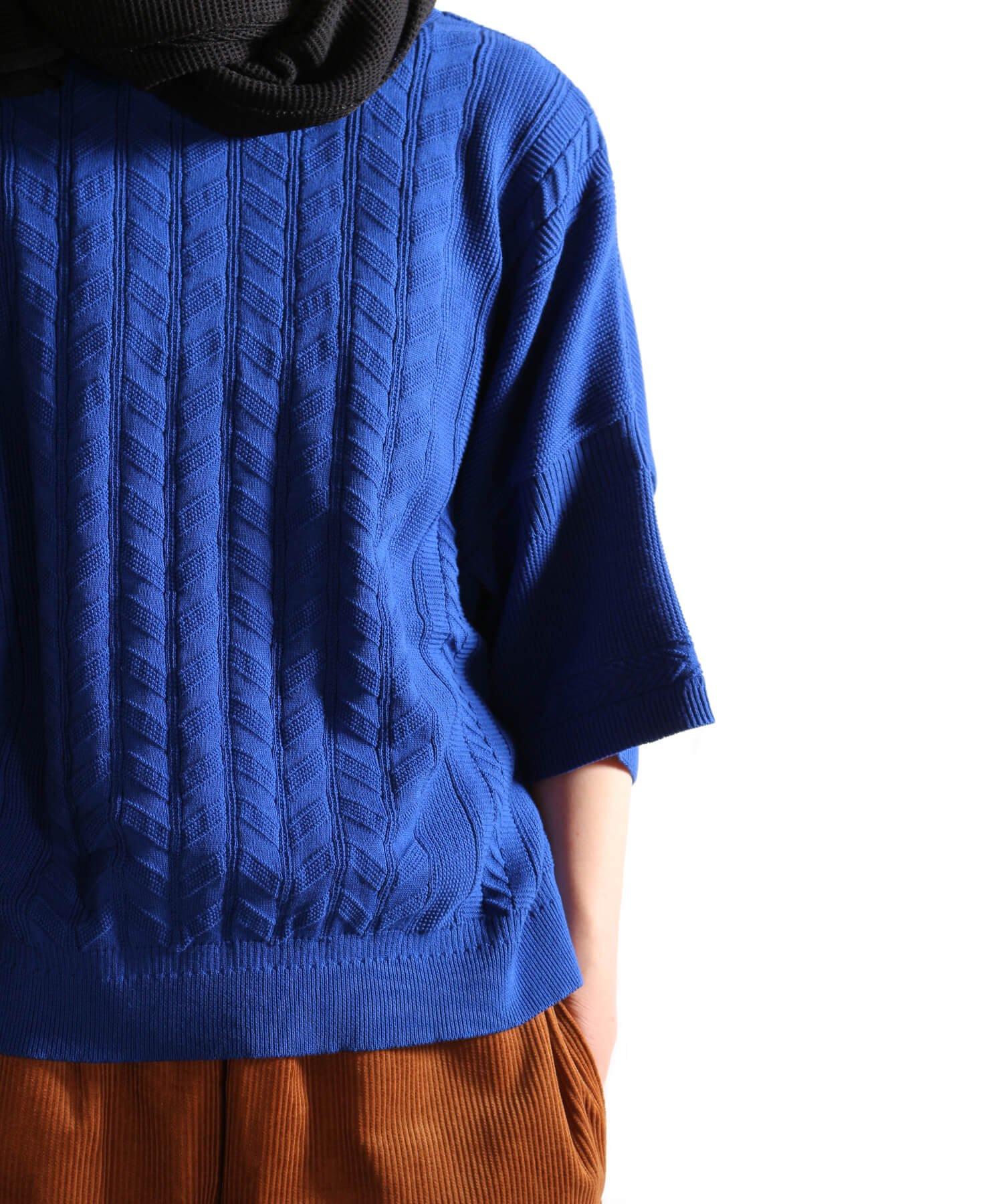 YASHIKI / ヤシキ |YASHIKI / ヤシキ × SIDEMILITIA inc. / サイドミリティア  RYUREI KNIT (LIMITED BLUE/WOMEN'S) 商品画像15