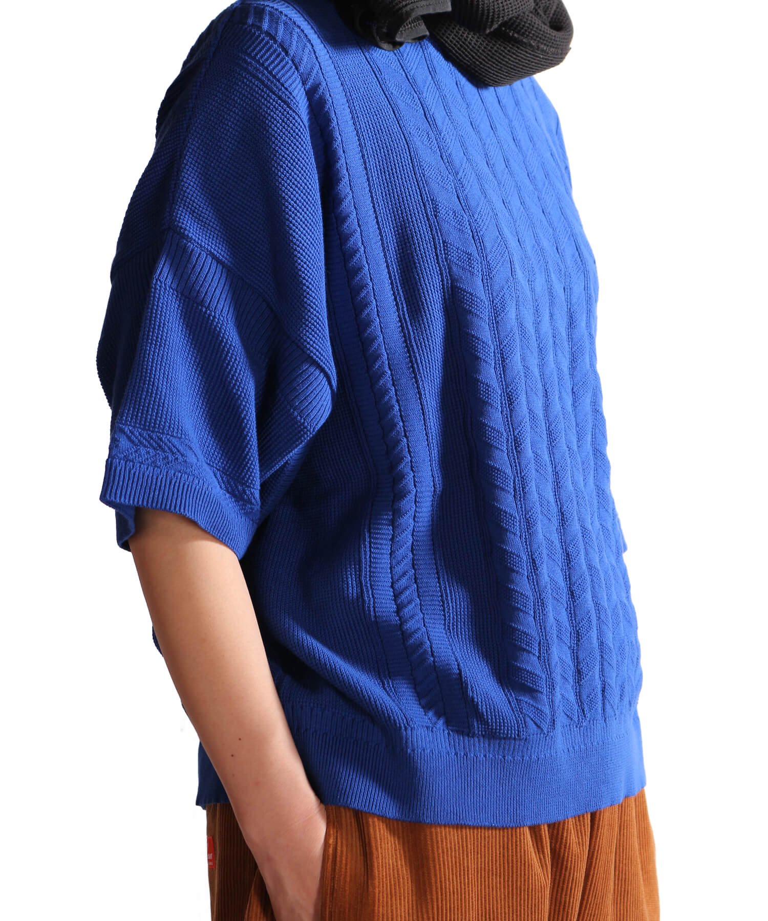 YASHIKI / ヤシキ |YASHIKI / ヤシキ × SIDEMILITIA inc. / サイドミリティア  RYUREI KNIT (LIMITED BLUE/WOMEN'S) 商品画像16