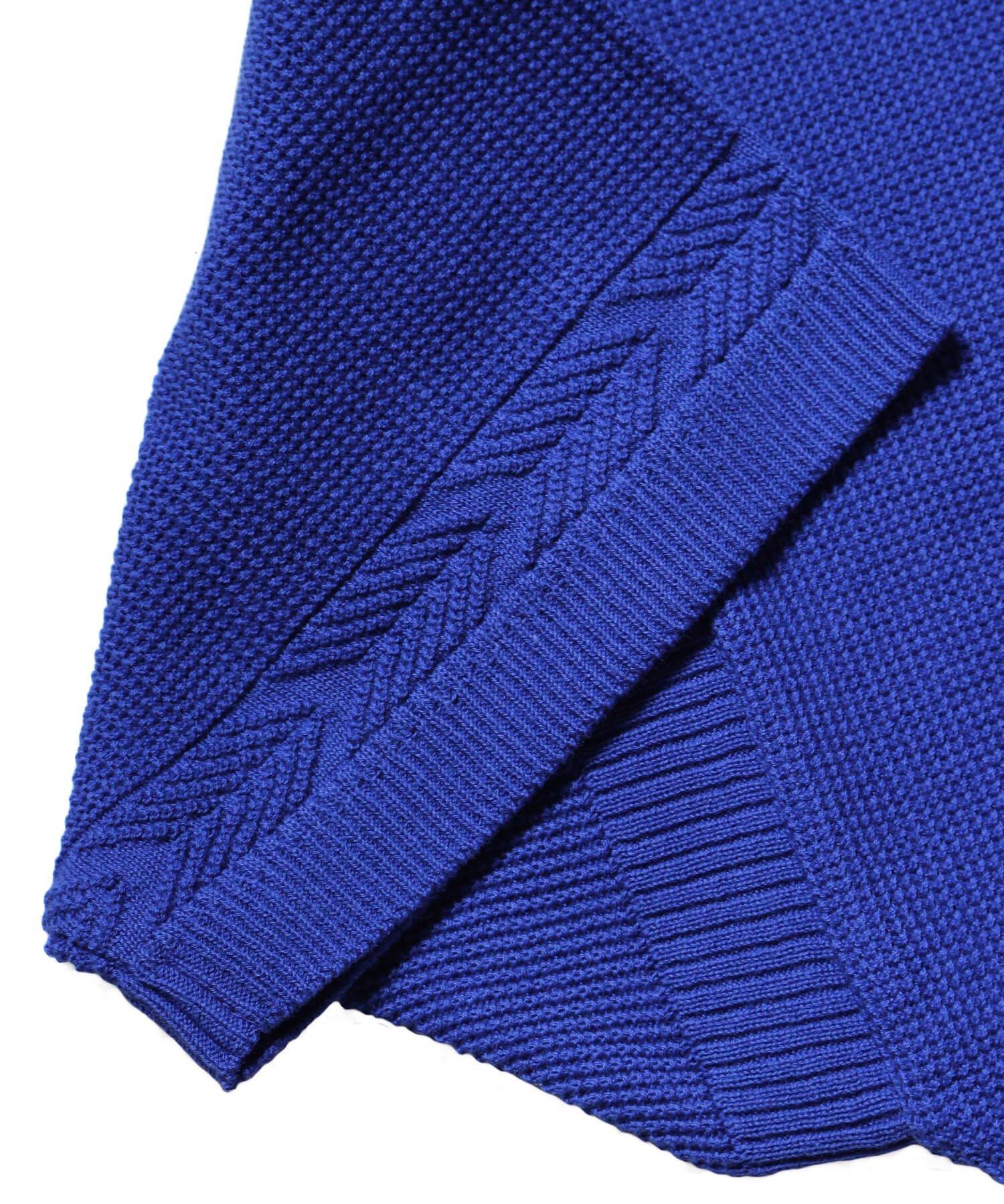 YASHIKI / ヤシキ |YASHIKI / ヤシキ × SIDEMILITIA inc. / サイドミリティア  RYUREI KNIT (LIMITED BLUE/WOMEN'S) 商品画像6