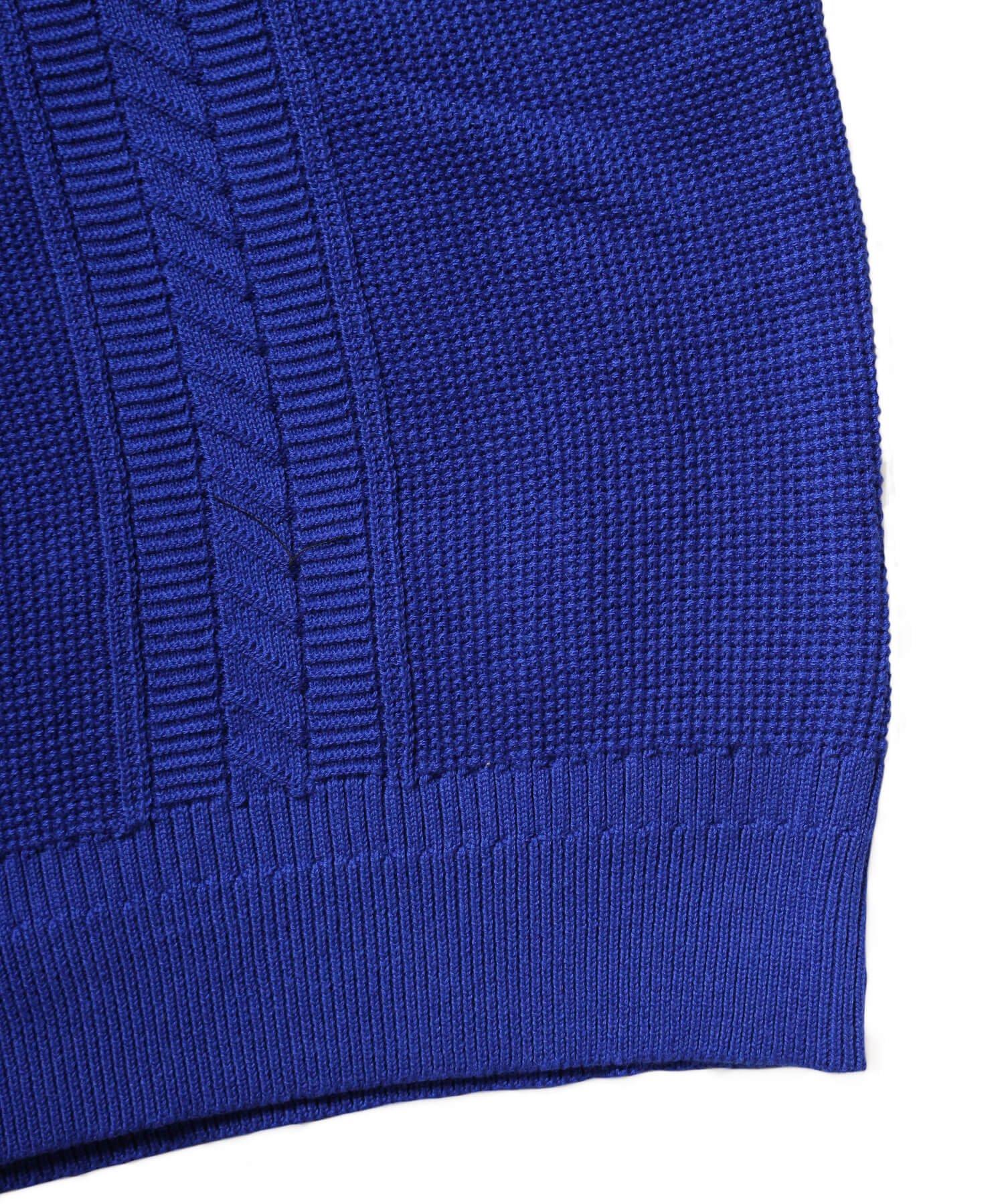 YASHIKI / ヤシキ |YASHIKI / ヤシキ × SIDEMILITIA inc. / サイドミリティア  RYUREI KNIT (LIMITED BLUE/WOMEN'S) 商品画像7