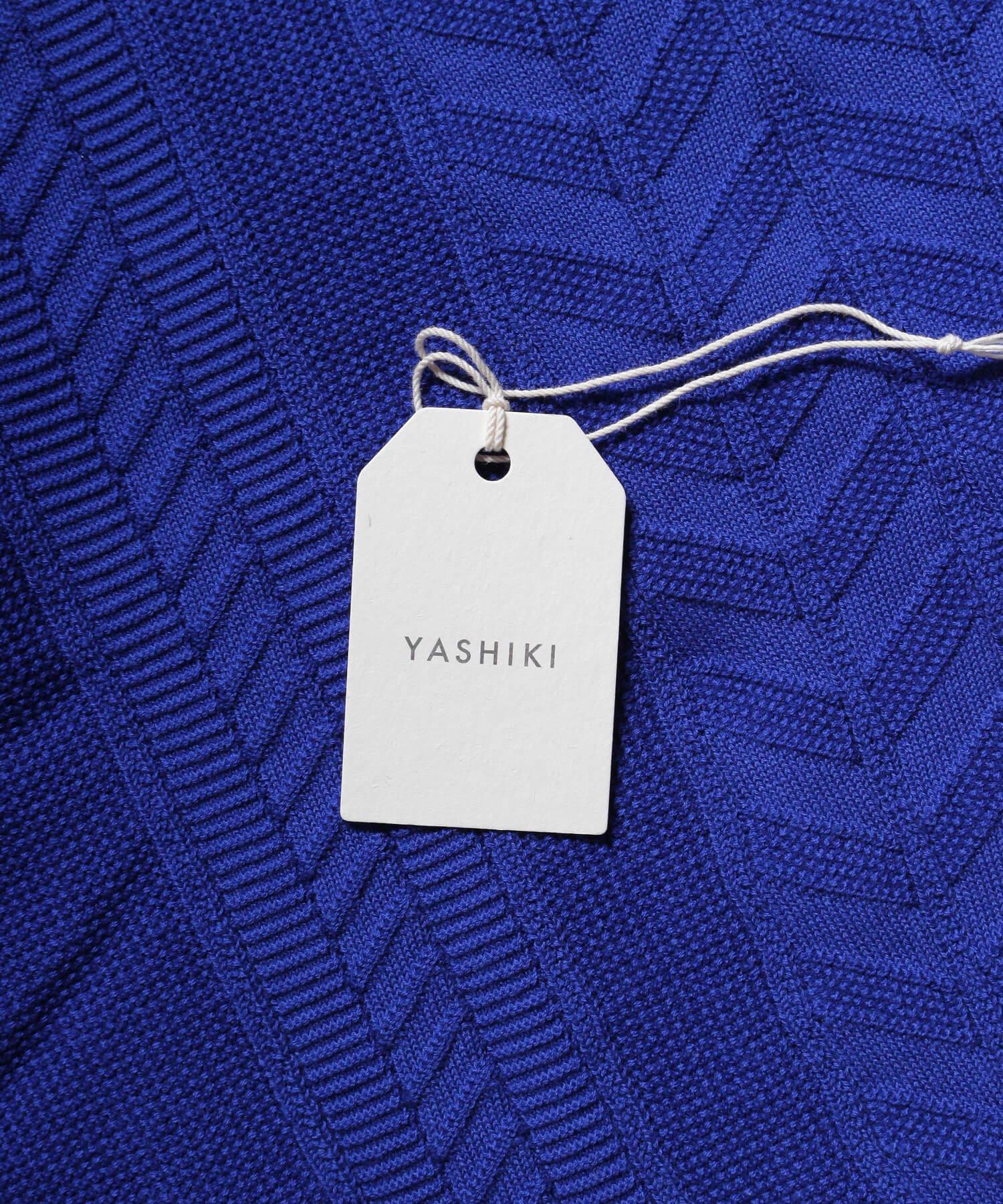 YASHIKI / ヤシキ |YASHIKI / ヤシキ × SIDEMILITIA inc. / サイドミリティア  RYUREI KNIT (LIMITED BLUE/WOMEN'S) 商品画像8