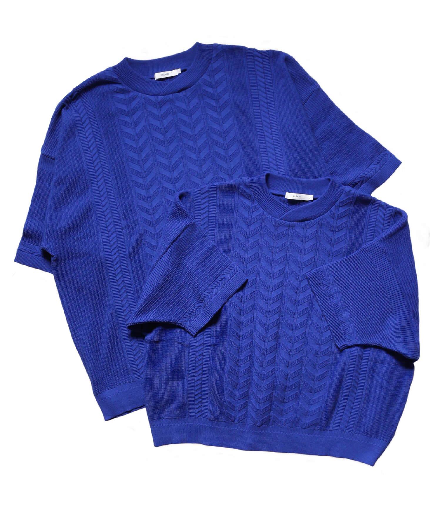 YASHIKI / ヤシキ |YASHIKI / ヤシキ × SIDEMILITIA inc. / サイドミリティア  RYUREI KNIT (LIMITED BLUE/WOMEN'S) 商品画像9