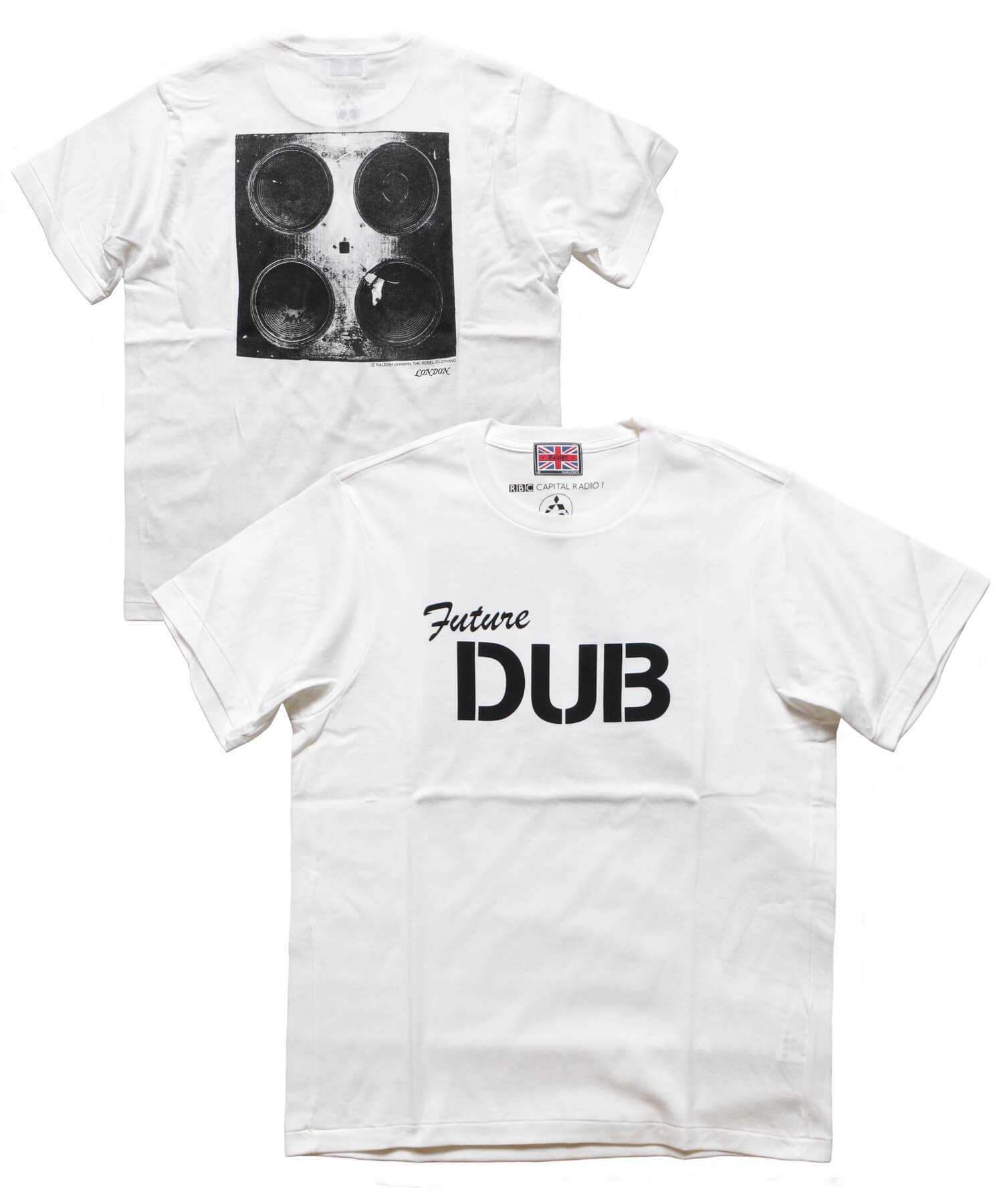 """RALEIGH / ラリー(RED MOTEL / レッドモーテル)    RALEIGH SOUND SYSTEM """"DUB OUR FUTURE"""" D.I.Y. T-SHIRTS (WH) 商品画像"""