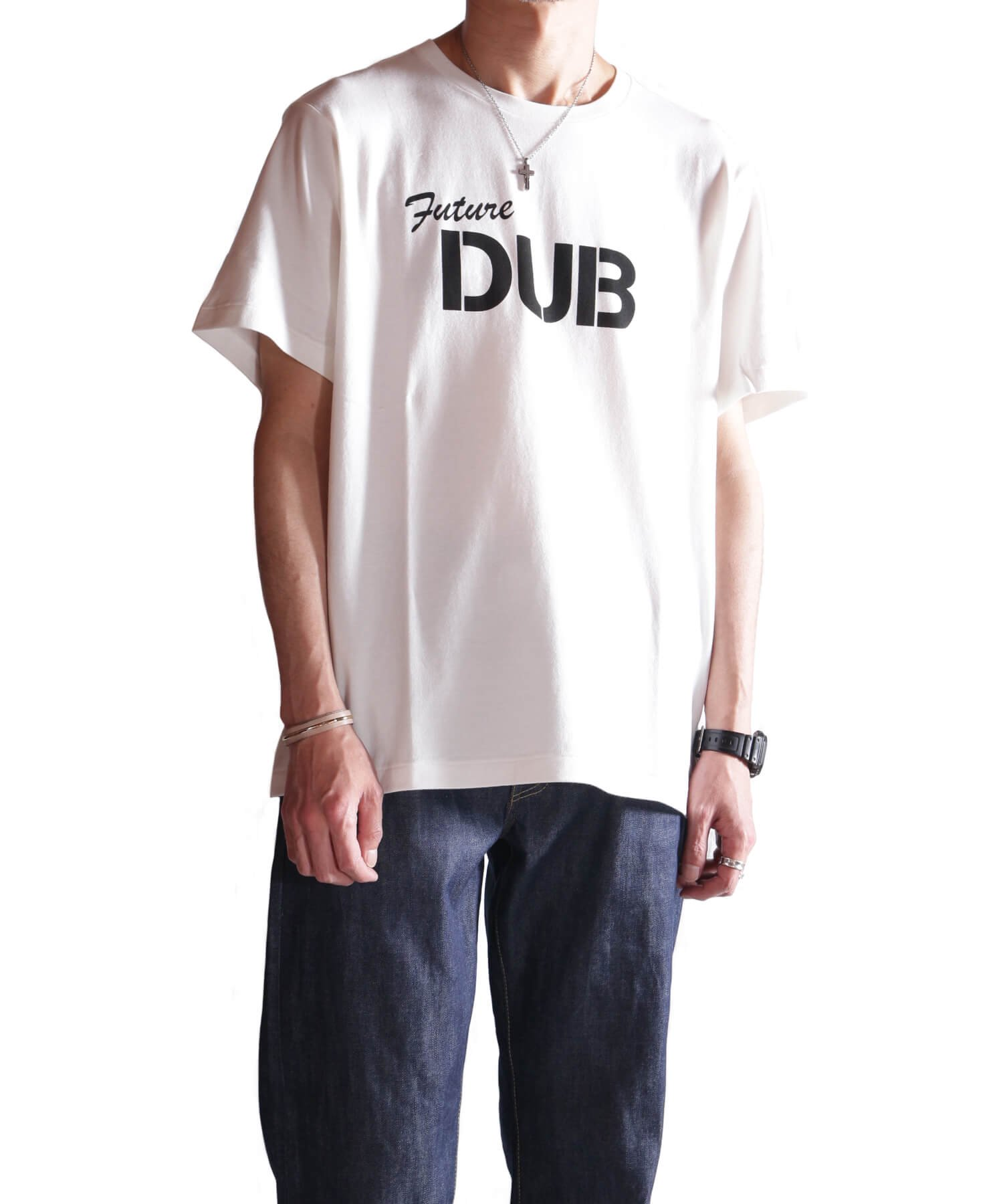 """RALEIGH / ラリー(RED MOTEL / レッドモーテル)   RALEIGH SOUND SYSTEM """"DUB OUR FUTURE"""" D.I.Y. T-SHIRTS (WH) 商品画像12"""