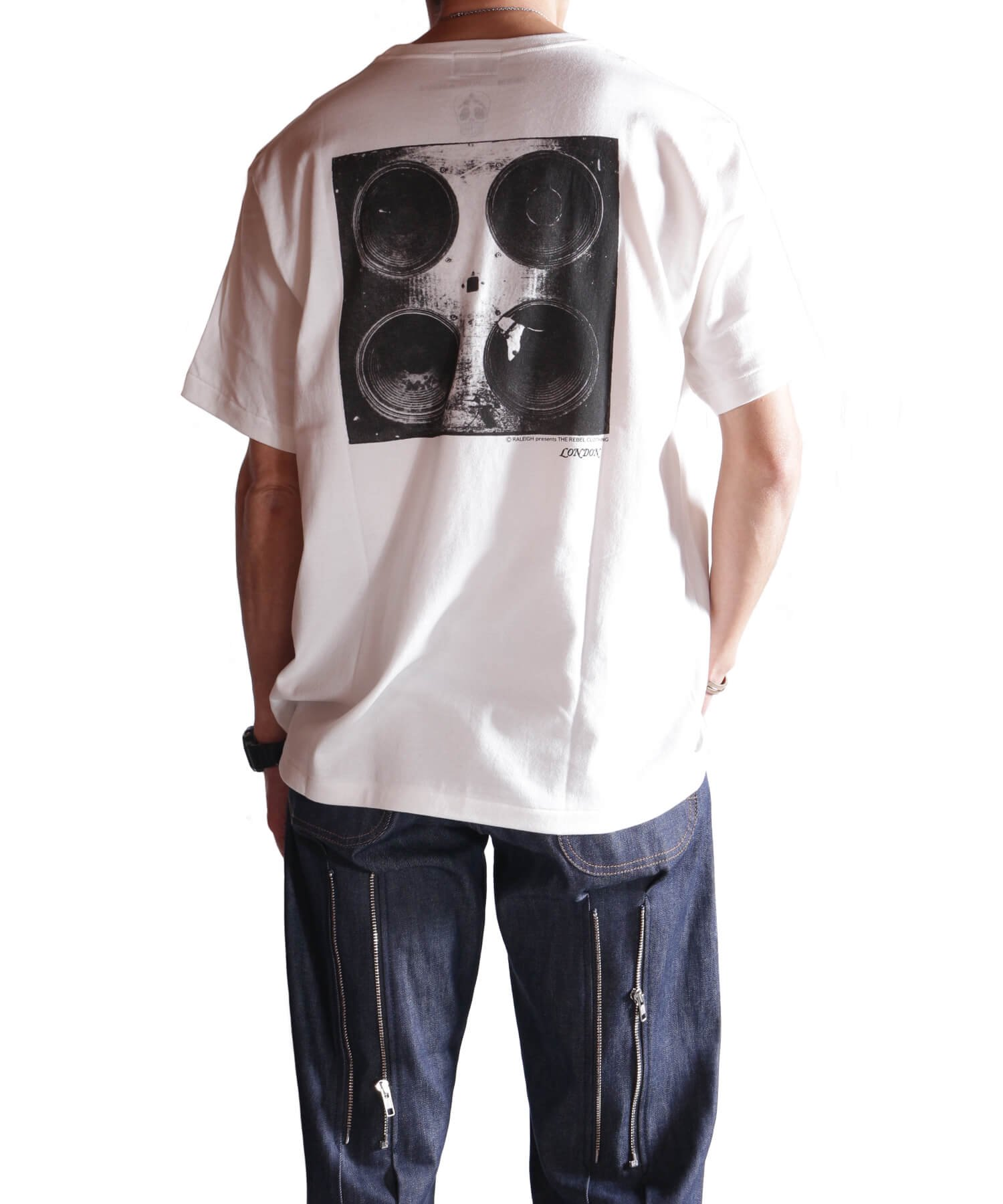 """RALEIGH / ラリー(RED MOTEL / レッドモーテル)   RALEIGH SOUND SYSTEM """"DUB OUR FUTURE"""" D.I.Y. T-SHIRTS (WH) 商品画像13"""