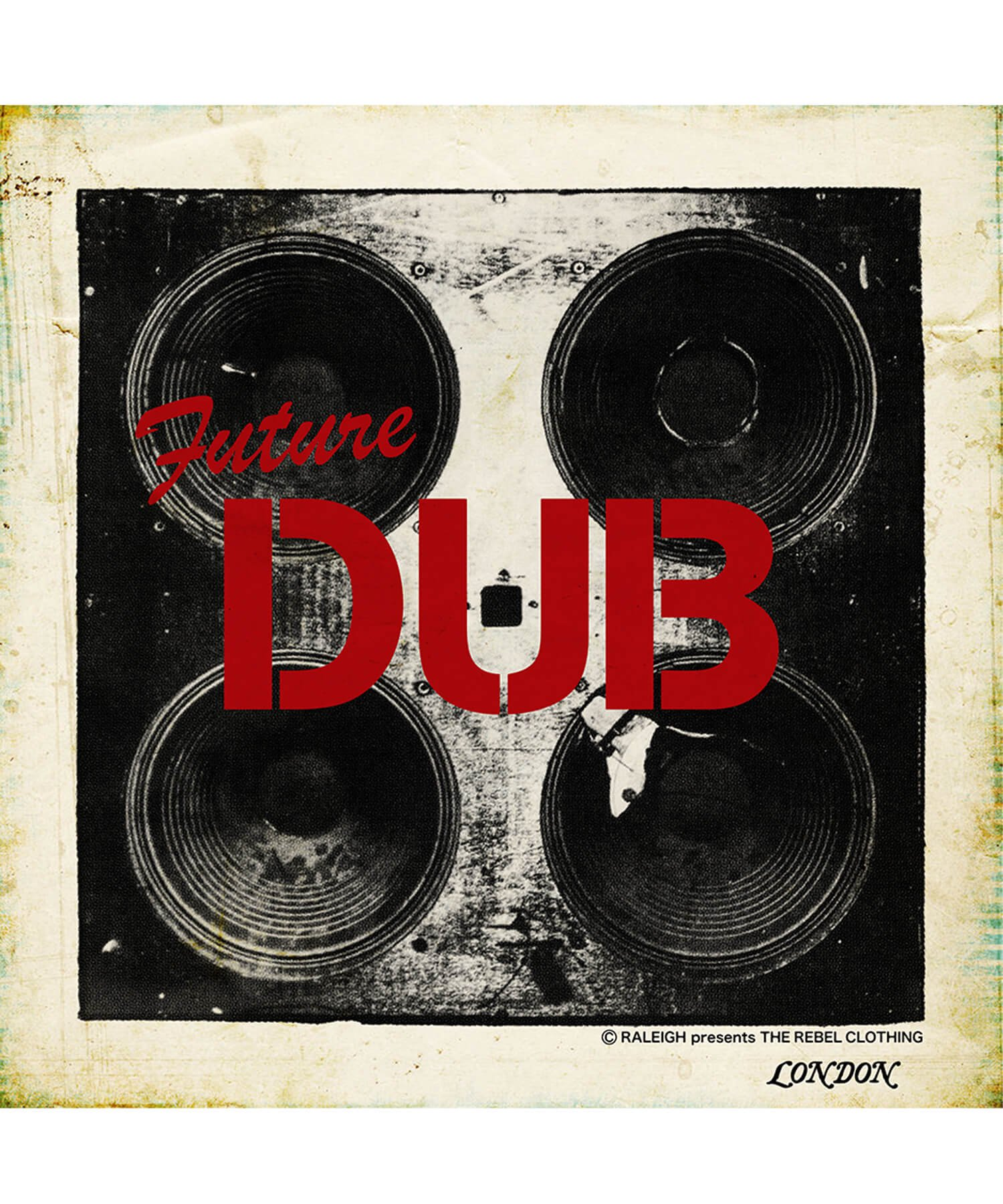 """RALEIGH / ラリー(RED MOTEL / レッドモーテル)   RALEIGH SOUND SYSTEM """"DUB OUR FUTURE"""" D.I.Y. T-SHIRTS (WH) 商品画像7"""