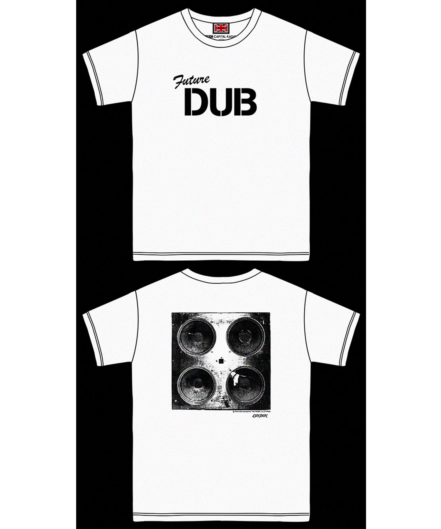 """RALEIGH / ラリー(RED MOTEL / レッドモーテル)   RALEIGH SOUND SYSTEM """"DUB OUR FUTURE"""" D.I.Y. T-SHIRTS (WH) 商品画像8"""
