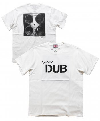 """RALEIGH / ラリー(RED MOTEL / レッドモーテル) /  RALEIGH SOUND SYSTEM """"DUB OUR FUTURE"""" D.I.Y. T-SHIRTS (WH)"""