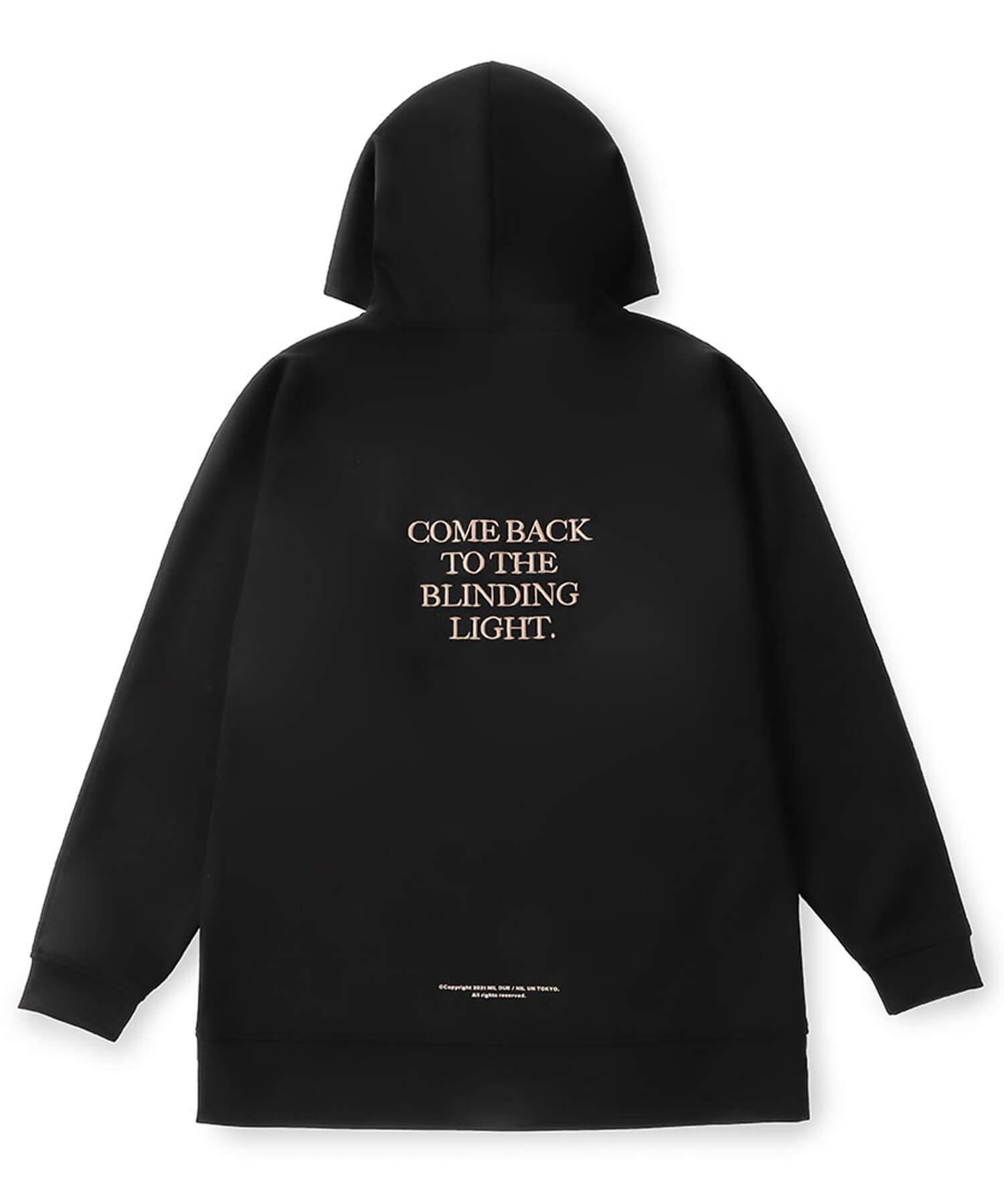 NIL DUE / NIL UN TOKYO / ニル デュエ / ニル アン トーキョー |  EMBROIDERY LOGO HOODIE (BLACK) 商品画像