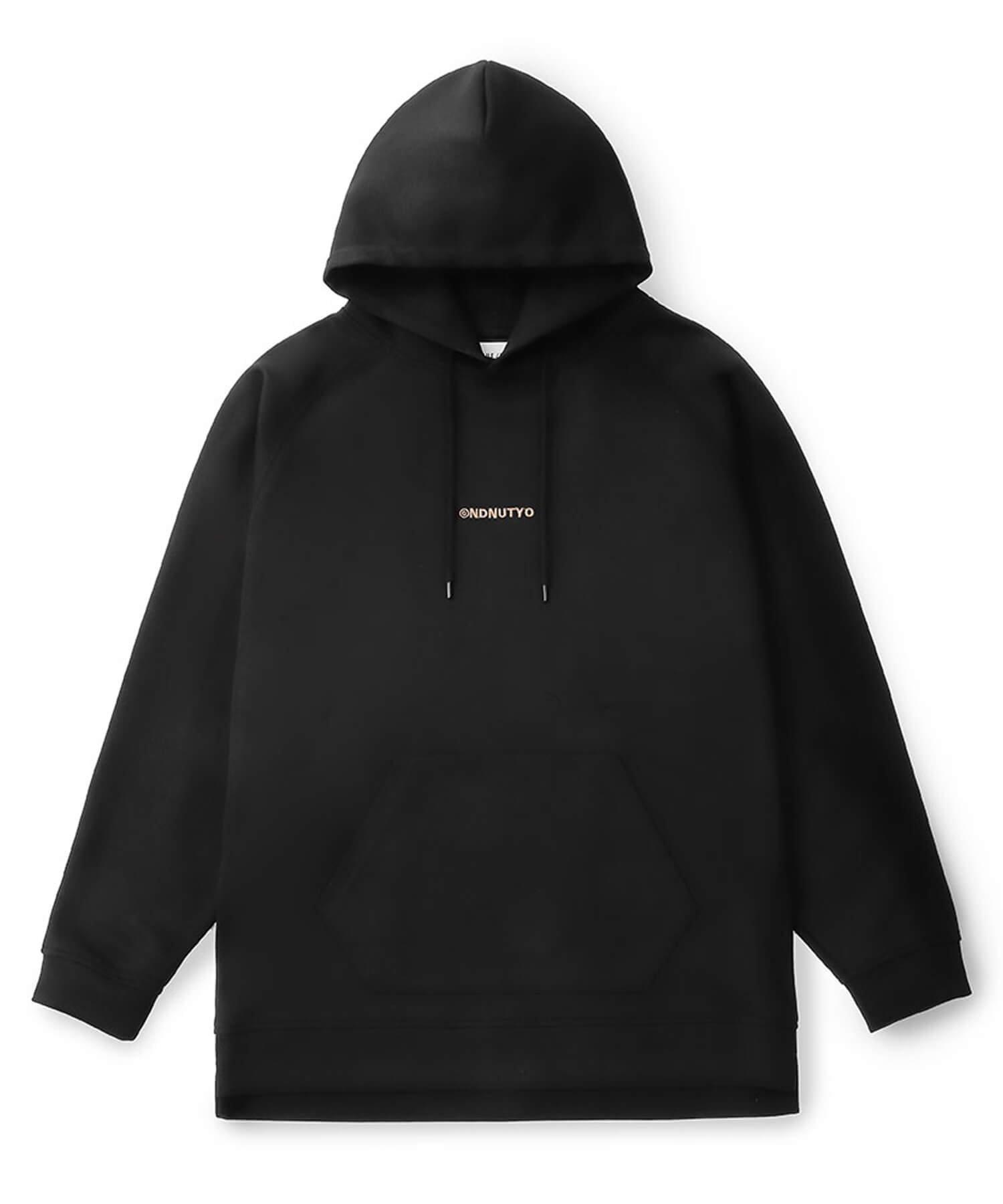 NIL DUE / NIL UN TOKYO / ニル デュエ / ニル アン トーキョー | EMBROIDERY LOGO HOODIE (BLACK) 商品画像1