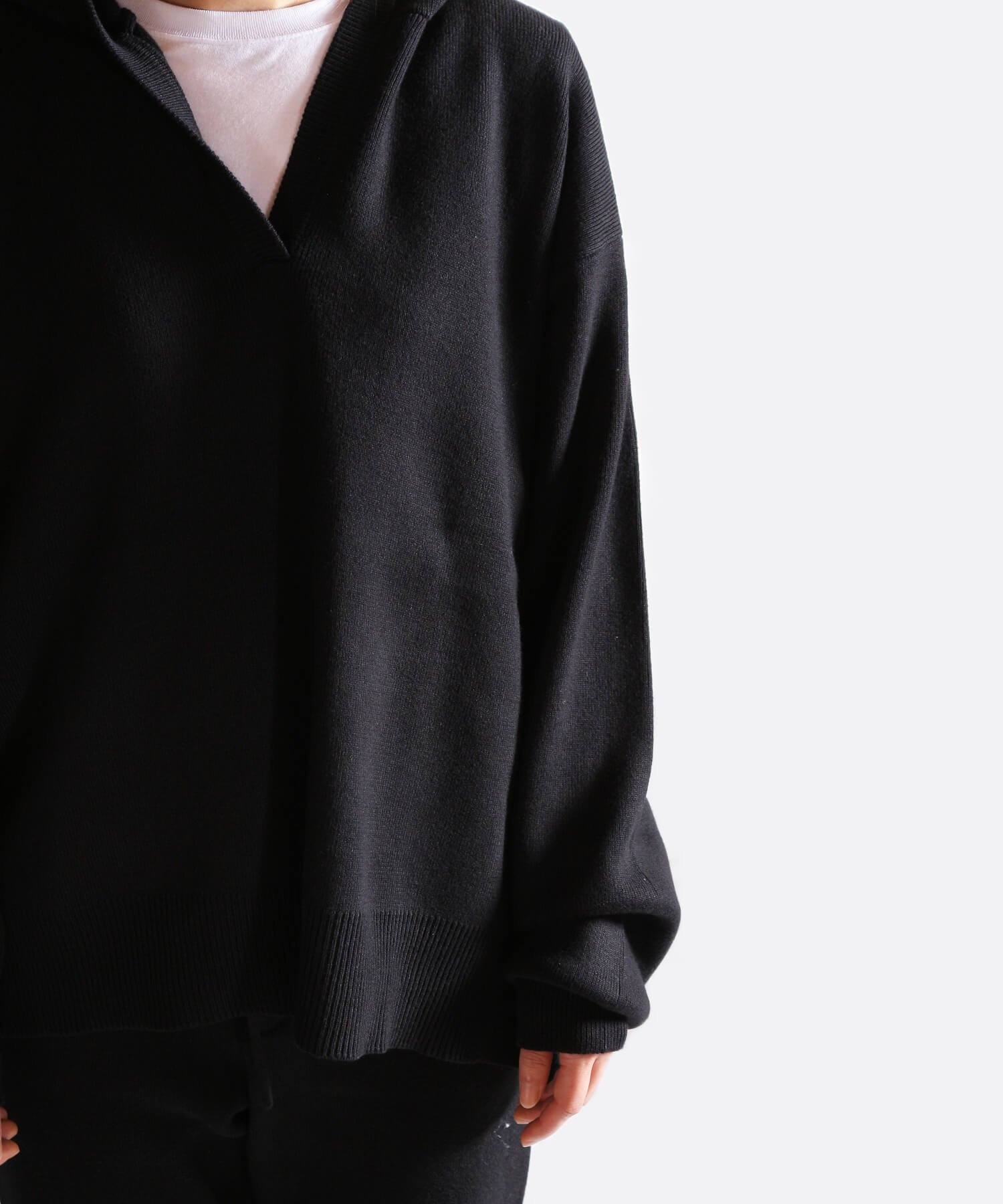 NIL DUE / NIL UN TOKYO / ニル デュエ / ニル アン トーキョー | RIB KNIT LOUNGE SET (BLACK) 商品画像25