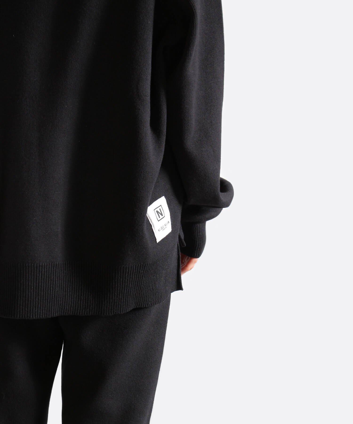 NIL DUE / NIL UN TOKYO / ニル デュエ / ニル アン トーキョー | RIB KNIT LOUNGE SET (BLACK) 商品画像26