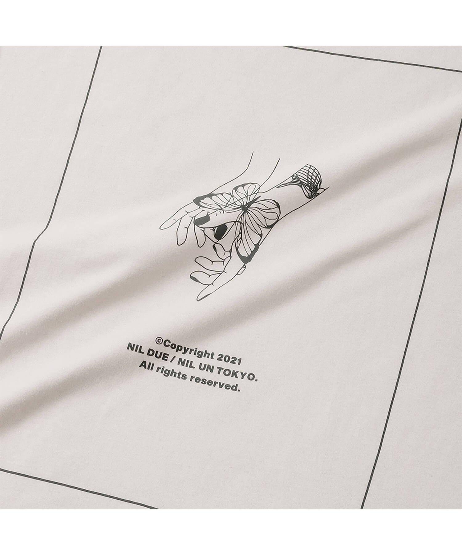 NIL DUE / NIL UN TOKYO / ニル デュエ / ニル アン トーキョー | LONG SLEEVE TATTOO TEE (USED IVORY) 商品画像2