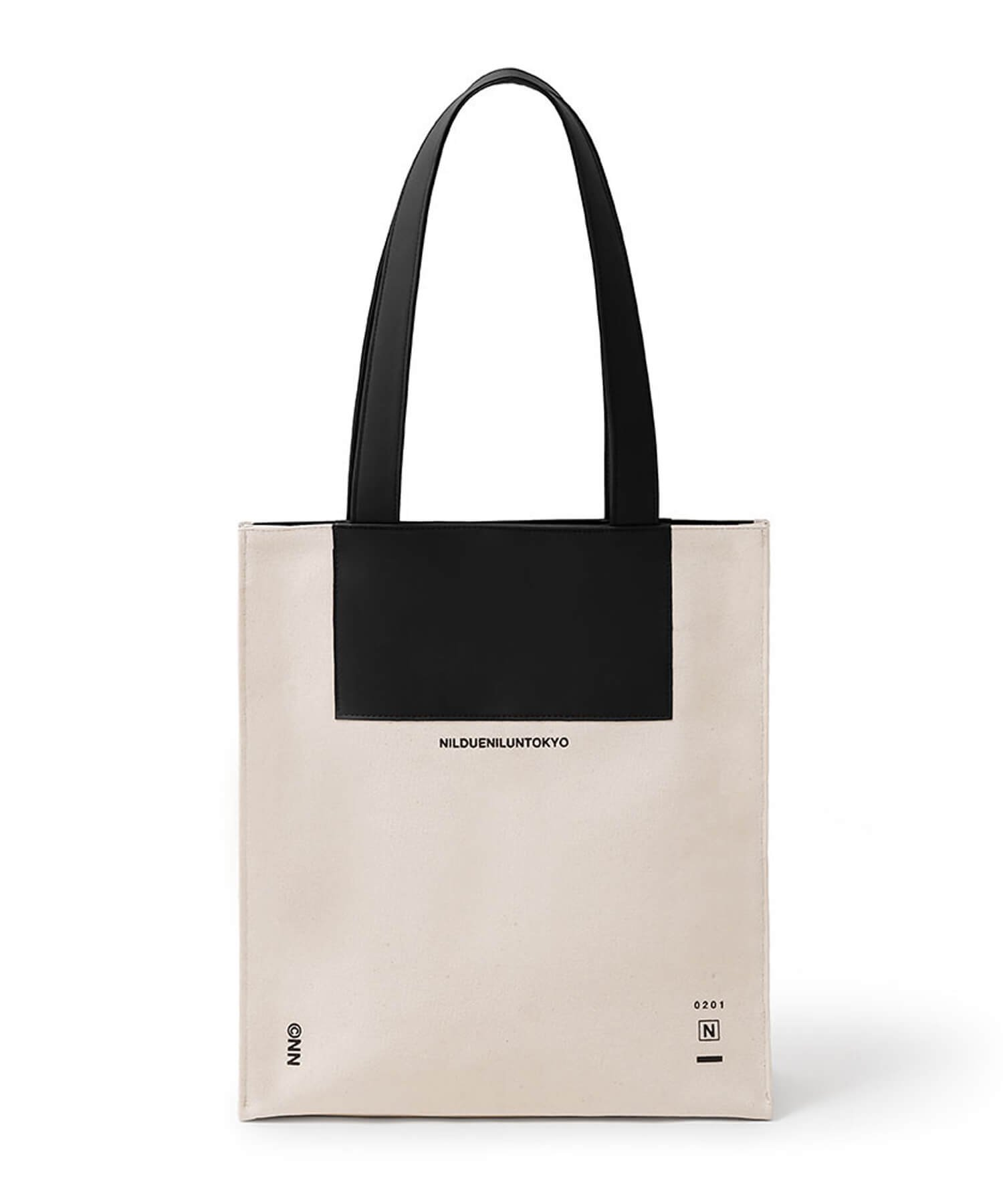 NIL DUE / NIL UN TOKYO / ニル デュエ / ニル アン トーキョー   CANVAS LEATHER TOTE (BLACK) 商品画像1