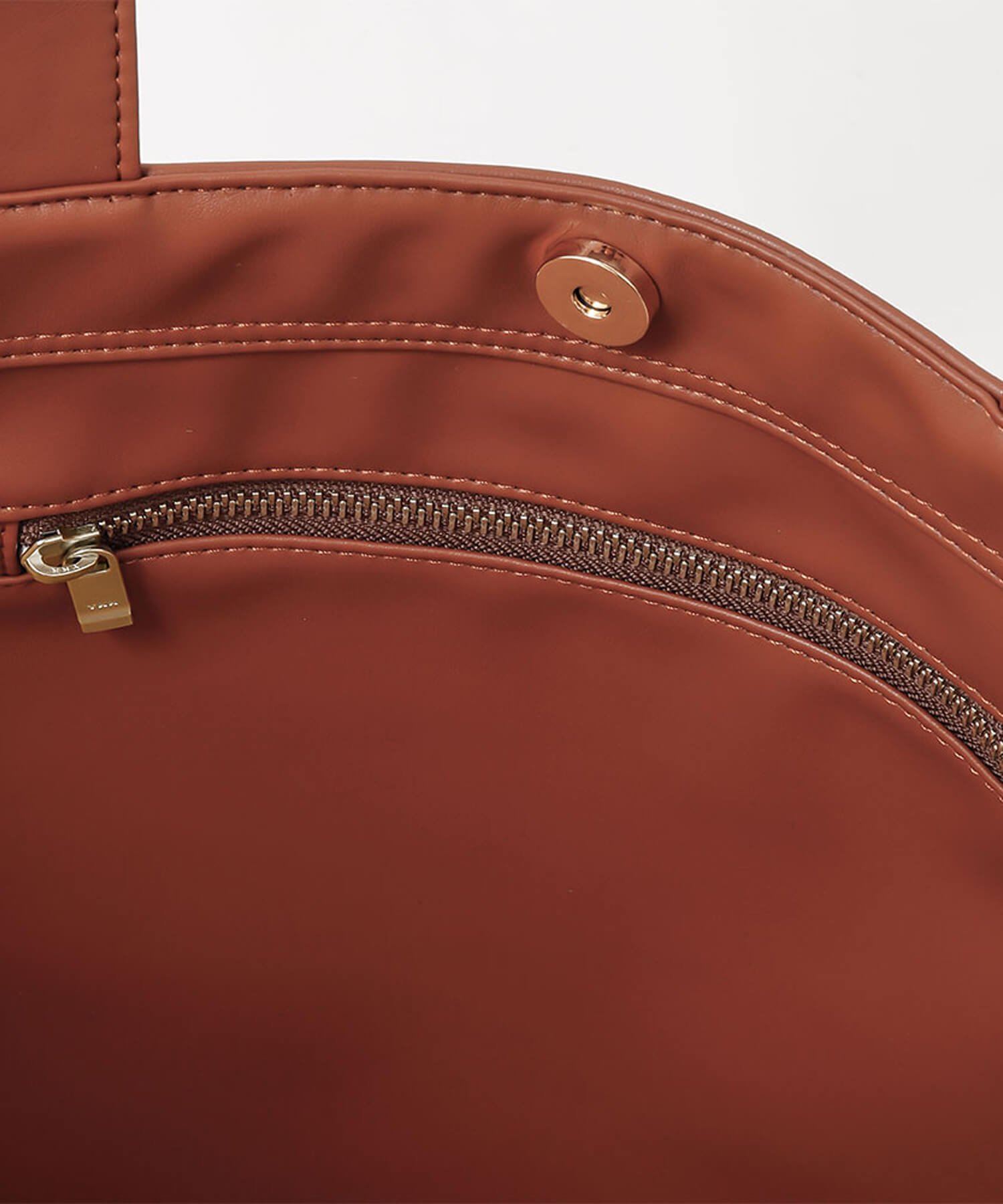 NIL DUE / NIL UN TOKYO / ニル デュエ / ニル アン トーキョー | CANVAS LEATHER TOTE (BROWN) 商品画像4