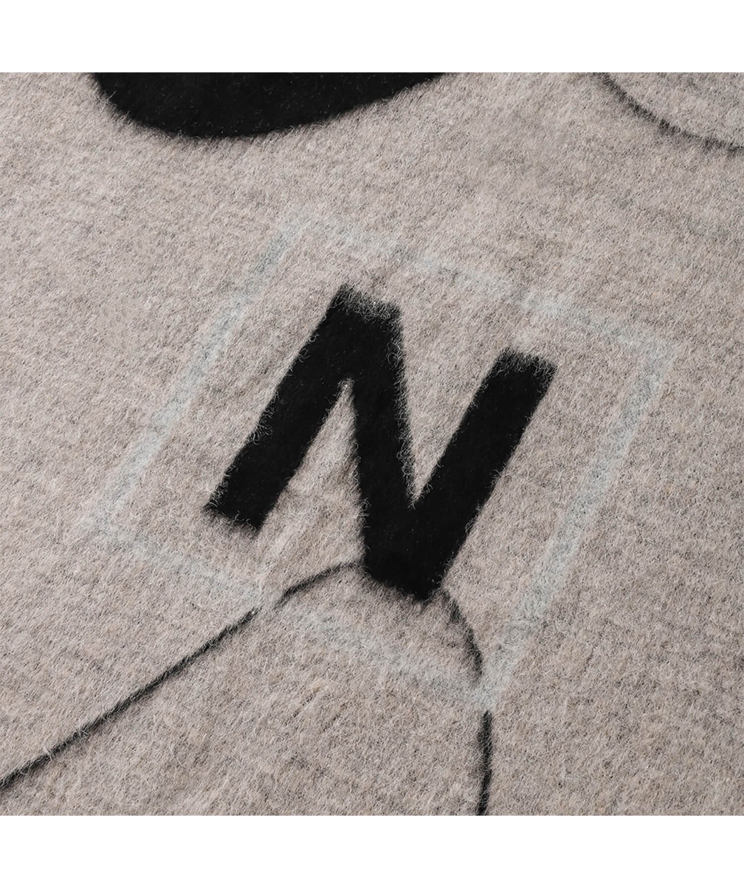 NIL DUE / NIL UN TOKYO / ニル デュエ / ニル アン トーキョー | NDNU ABSTRACT ART BLANKET (BLACK) 商品画像1