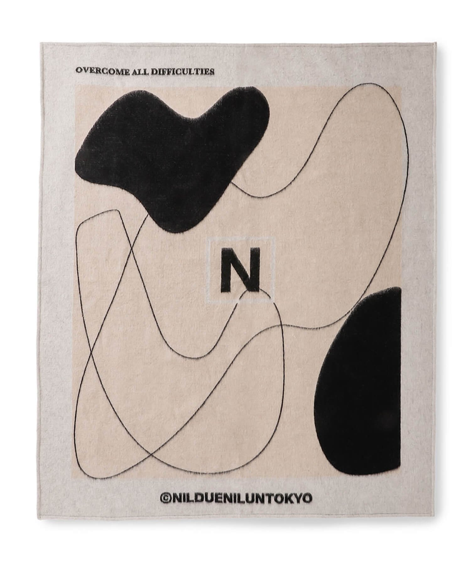 NIL DUE / NIL UN TOKYO / ニル デュエ / ニル アン トーキョー |  NDNU ABSTRACT ART BLANKET (BEIGE) 商品画像