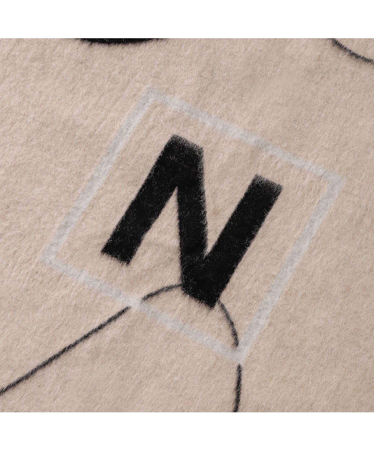 NIL DUE / NIL UN TOKYO / ニル デュエ / ニル アン トーキョー | NDNU ABSTRACT ART BLANKET (BEIGE) 商品画像1