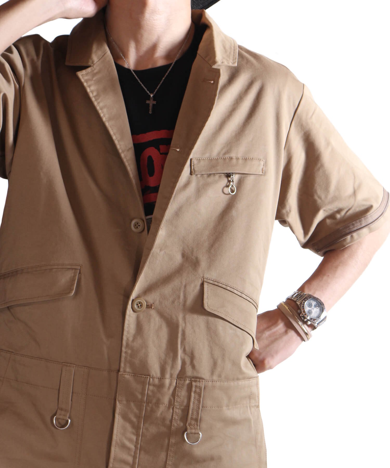 """RALEIGH / ラリー(RED MOTEL / レッドモーテル)   """"TAKE A WALK ON THE WILD SIDE"""" TAILORED BOILERSUITS (KB) 商品画像29"""