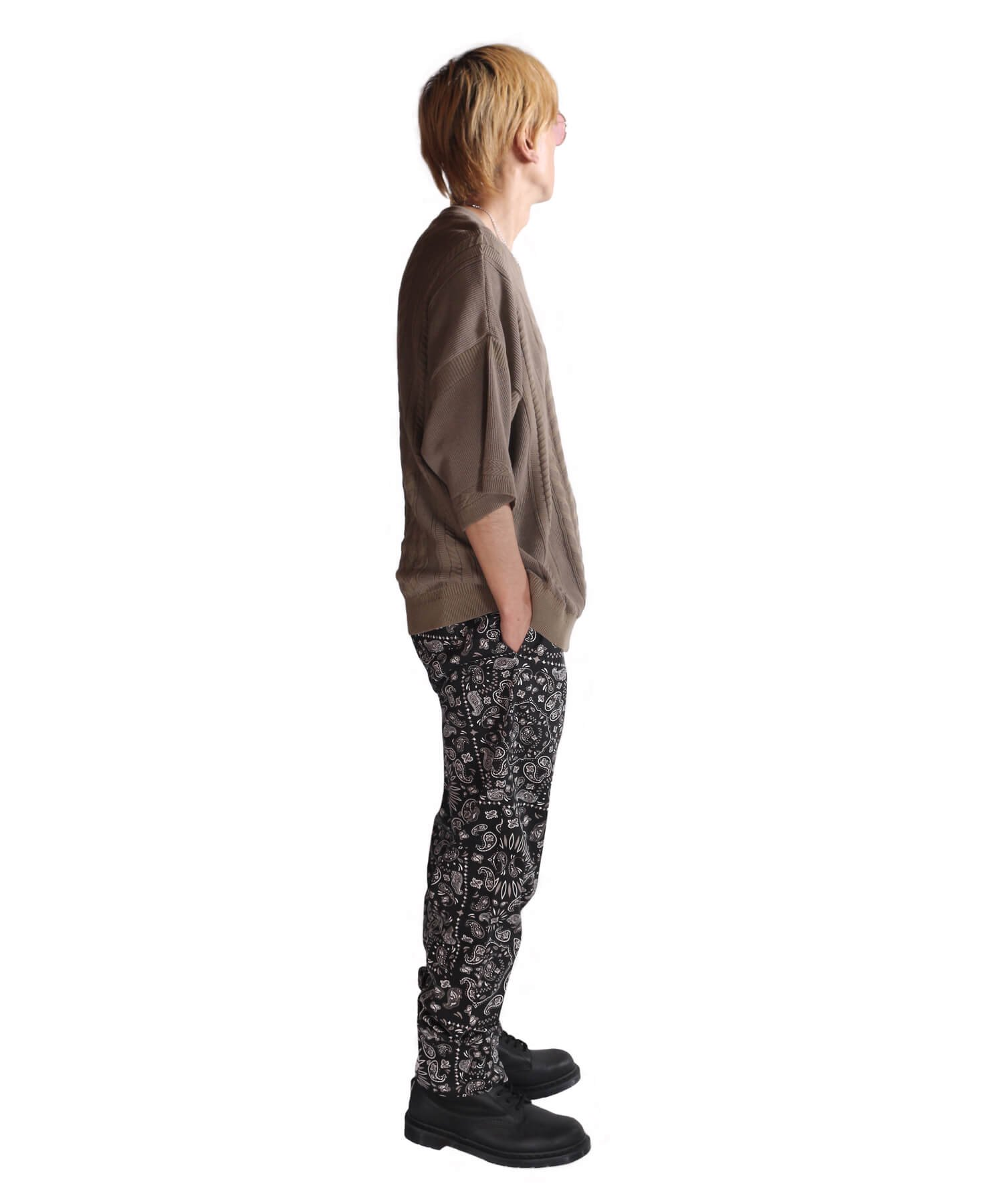 COOKMAN / クックマン   WAITER'S PANTS (PAISLEY BLACK):ウェイターズパンツ 商品画像12