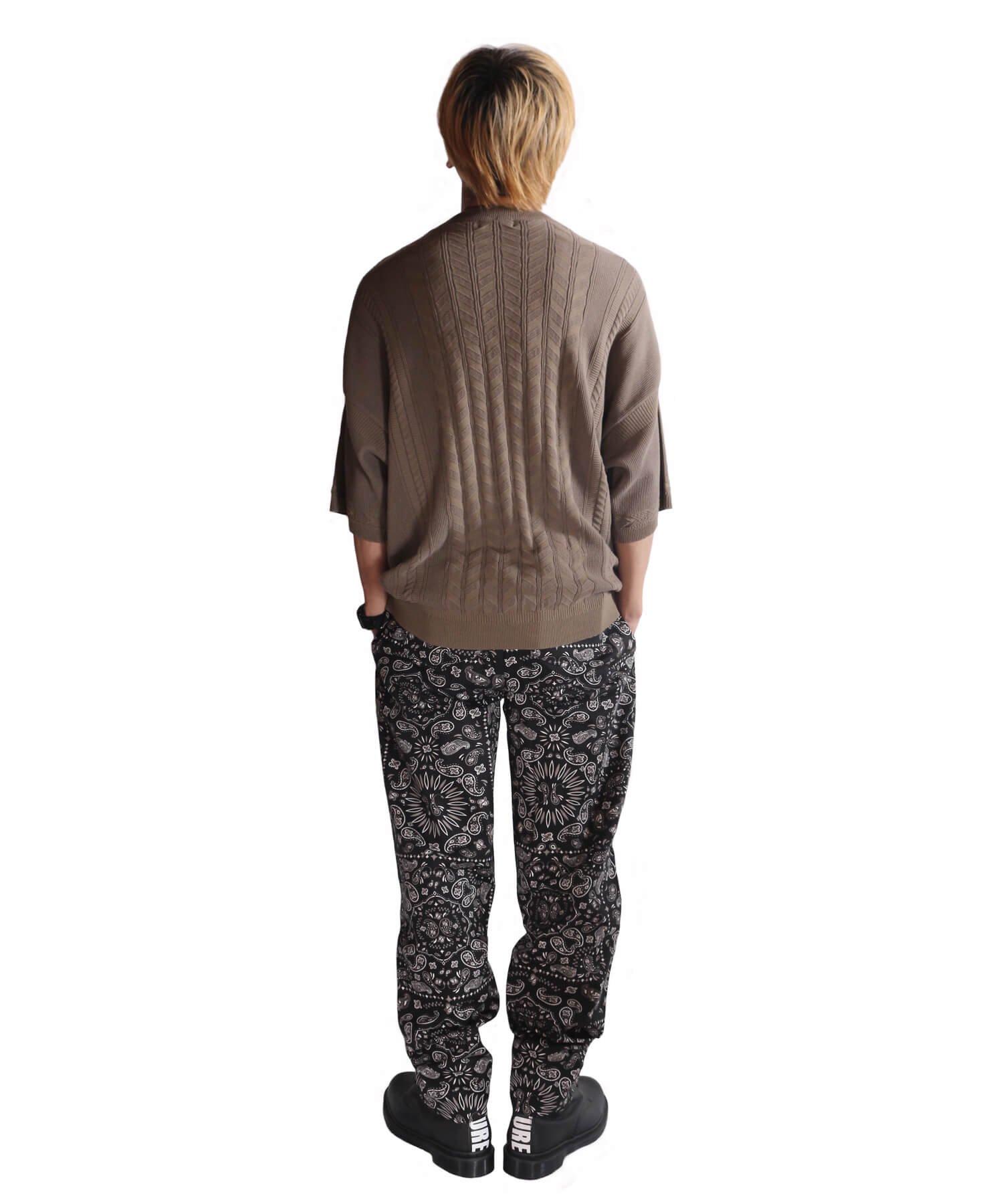 COOKMAN / クックマン   WAITER'S PANTS (PAISLEY BLACK):ウェイターズパンツ 商品画像13