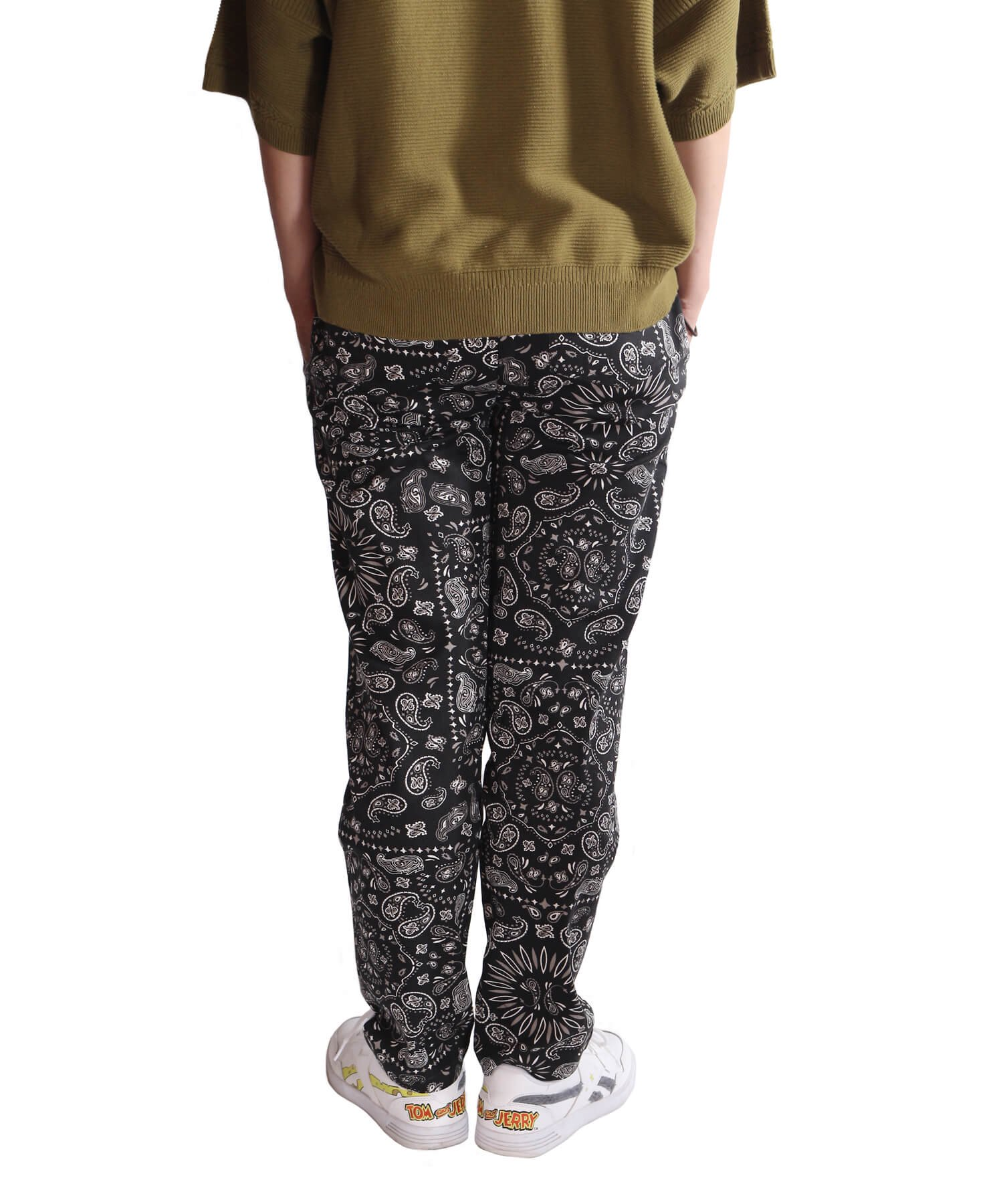 COOKMAN / クックマン   WAITER'S PANTS (PAISLEY BLACK):ウェイターズパンツ 商品画像22