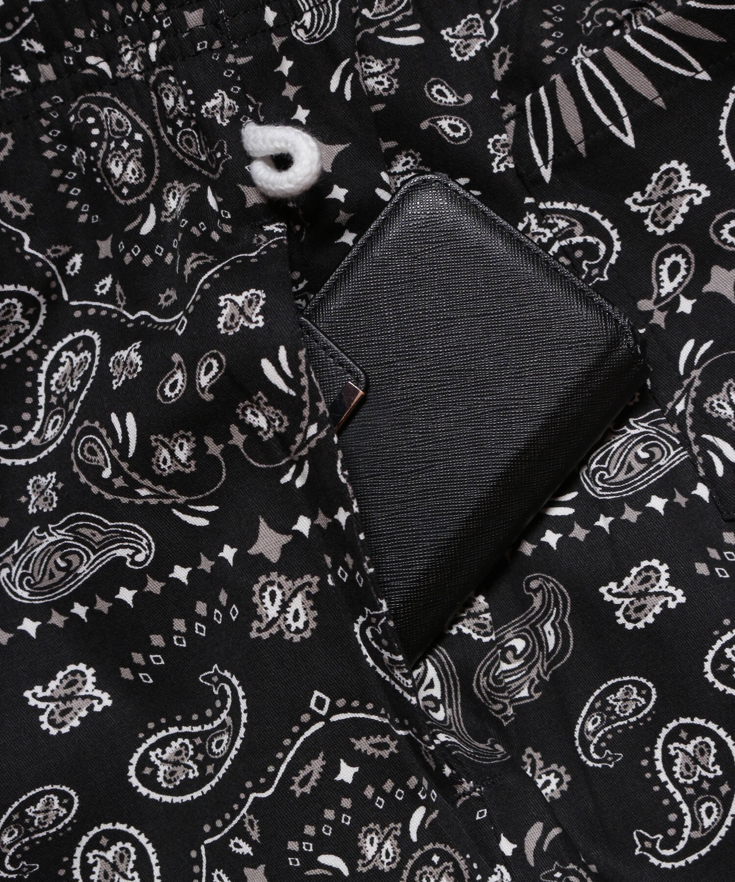 COOKMAN / クックマン   WAITER'S PANTS (PAISLEY BLACK):ウェイターズパンツ 商品画像4