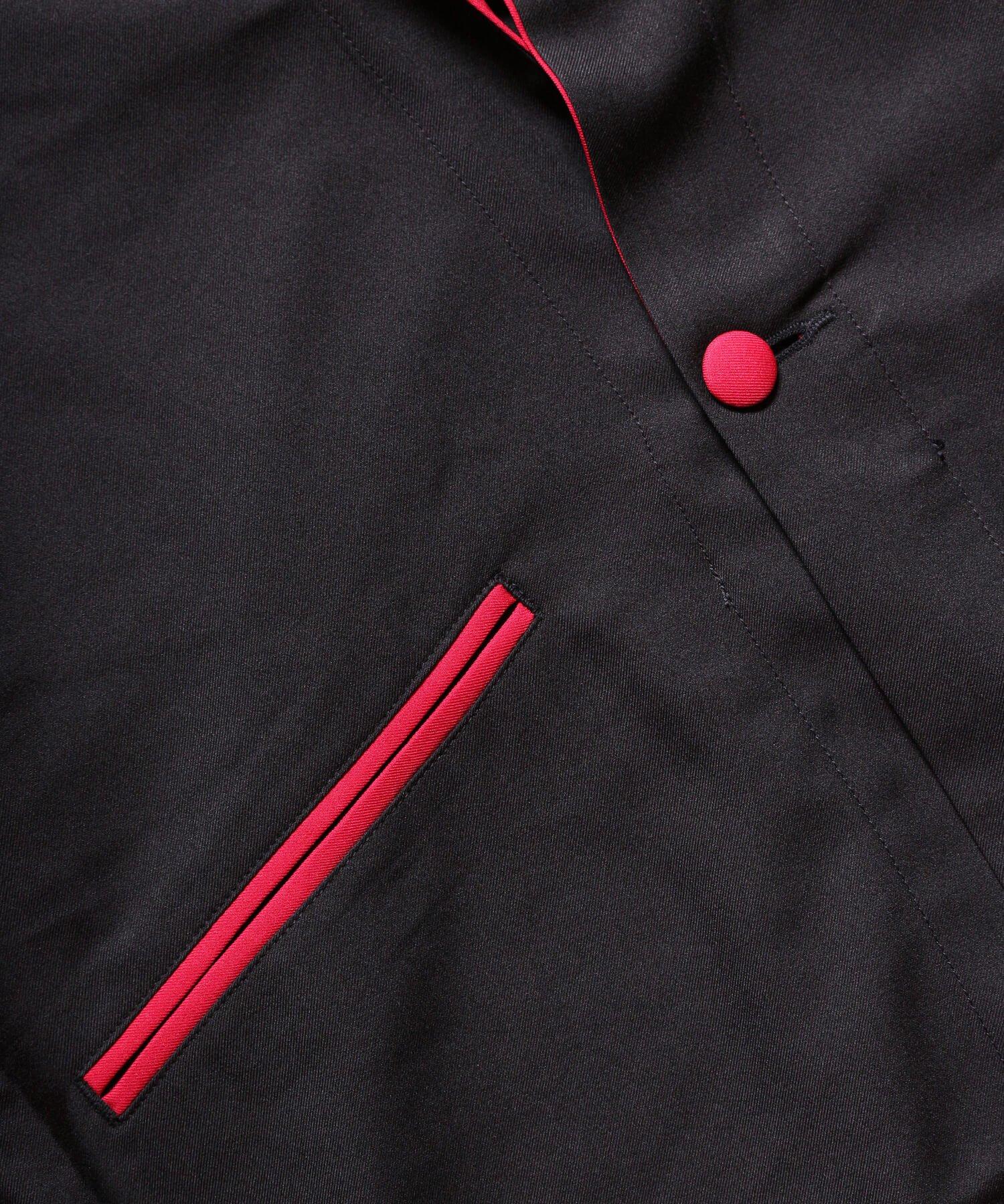 "RALEIGH / ラリー(RED MOTEL / レッドモーテル) | ""英国式甚平"" TEDDY BOY SUMMER JACKET & TROUSERS (BK×RD) 商品画像10"
