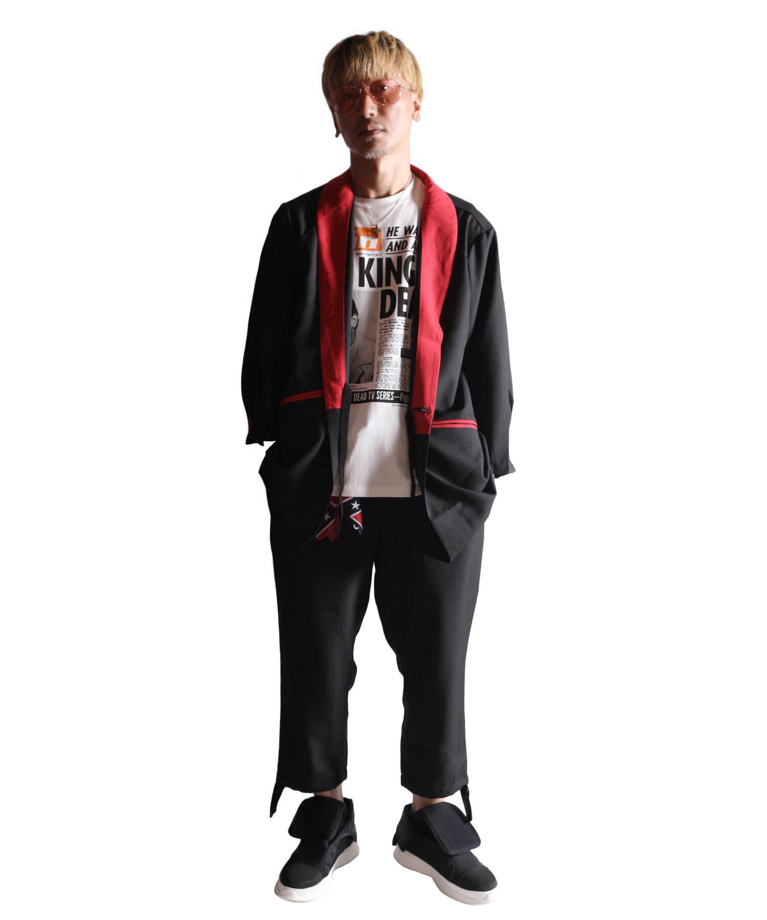 "RALEIGH / ラリー(RED MOTEL / レッドモーテル) | ""英国式甚平"" TEDDY BOY SUMMER JACKET & TROUSERS (BK×RD) 商品画像24"