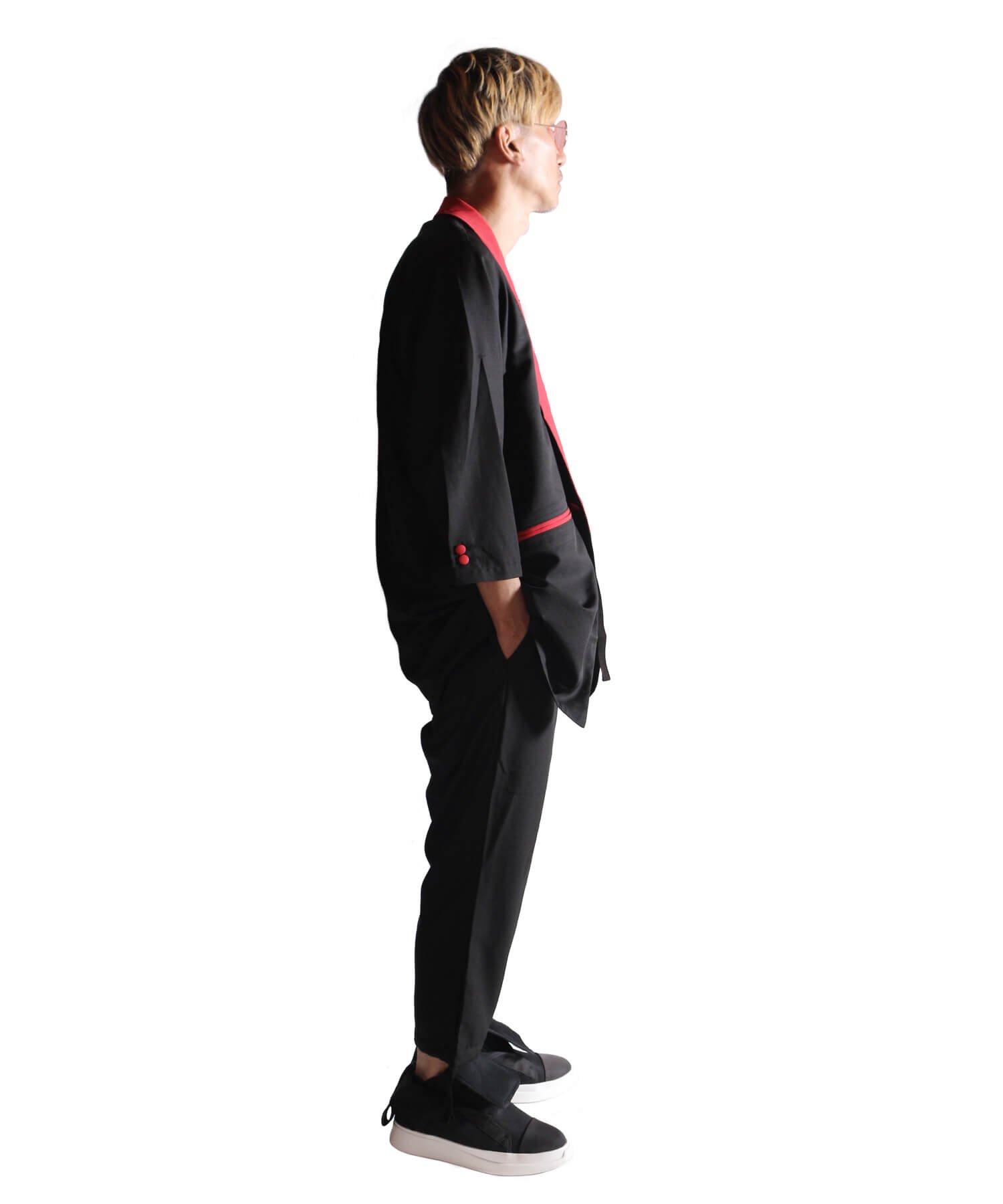 "RALEIGH / ラリー(RED MOTEL / レッドモーテル) | ""英国式甚平"" TEDDY BOY SUMMER JACKET & TROUSERS (BK×RD) 商品画像25"