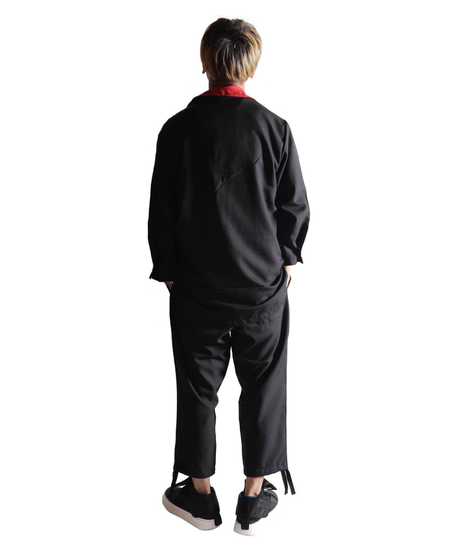 "RALEIGH / ラリー(RED MOTEL / レッドモーテル) | ""英国式甚平"" TEDDY BOY SUMMER JACKET & TROUSERS (BK×RD) 商品画像26"