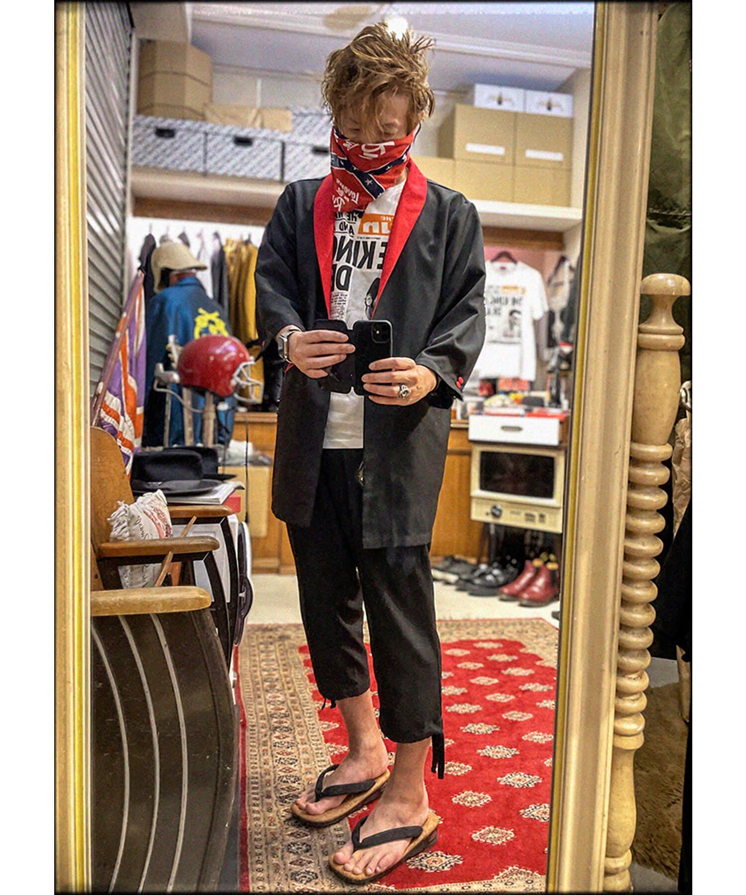 "RALEIGH / ラリー(RED MOTEL / レッドモーテル) | ""英国式甚平"" TEDDY BOY SUMMER JACKET & TROUSERS (BK×RD) 商品画像7"