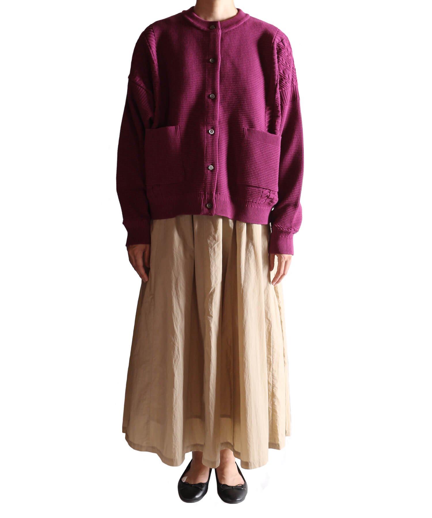 YASHIKI / ヤシキ  YASHIKI / ヤシキ × SIDEMILITIA inc. / サイドミリティア  SHIGURE CARDIGAN (LIMITED PURPLE/WOMEN'S) 商品画像16