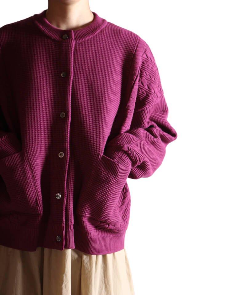 YASHIKI / ヤシキ  YASHIKI / ヤシキ × SIDEMILITIA inc. / サイドミリティア  SHIGURE CARDIGAN (LIMITED PURPLE/WOMEN'S) 商品画像20