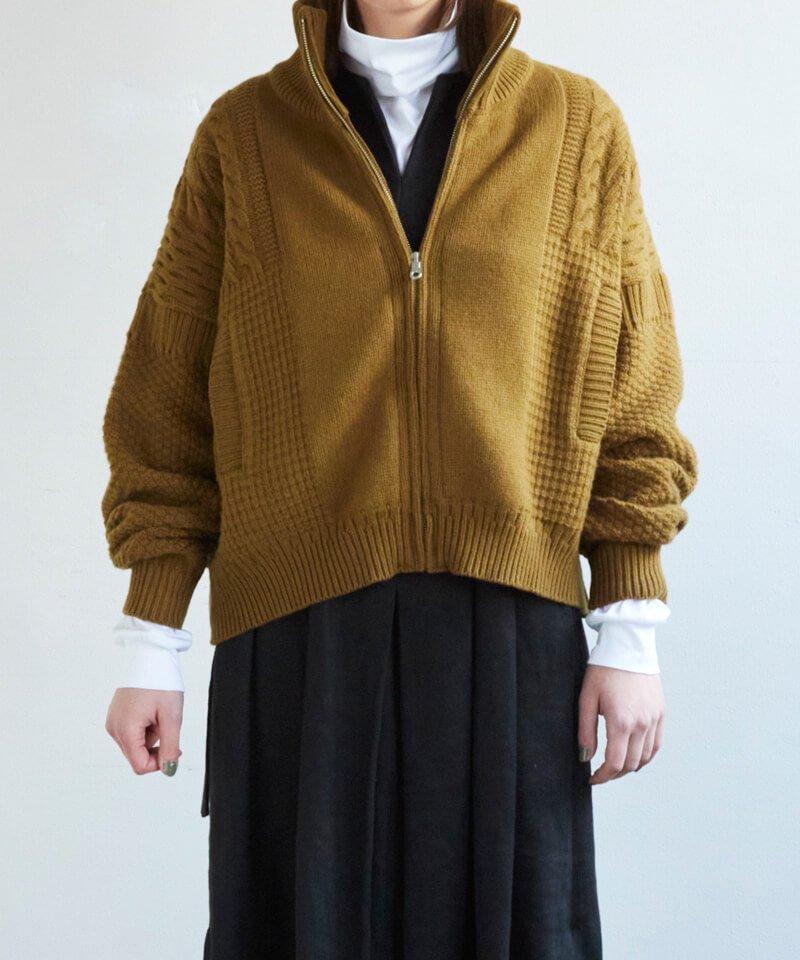 YASHIKI / ヤシキ  AKANE KNIT BLOUSON (OCHER) 商品画像6