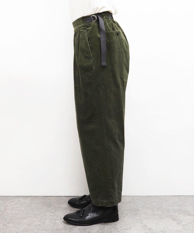 SAYATOMO / サヤトモ  HAKAMA AKANE CORDUROY PANTS (OLIVE) 商品画像5