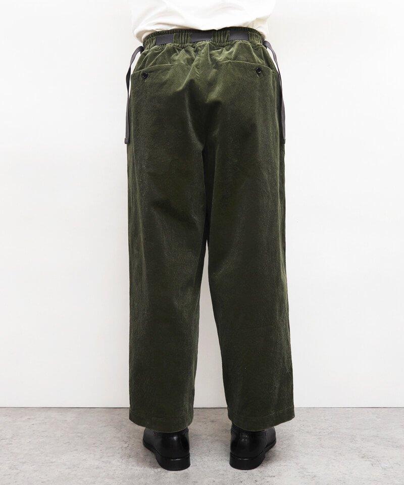 SAYATOMO / サヤトモ  HAKAMA AKANE CORDUROY PANTS (OLIVE) 商品画像6