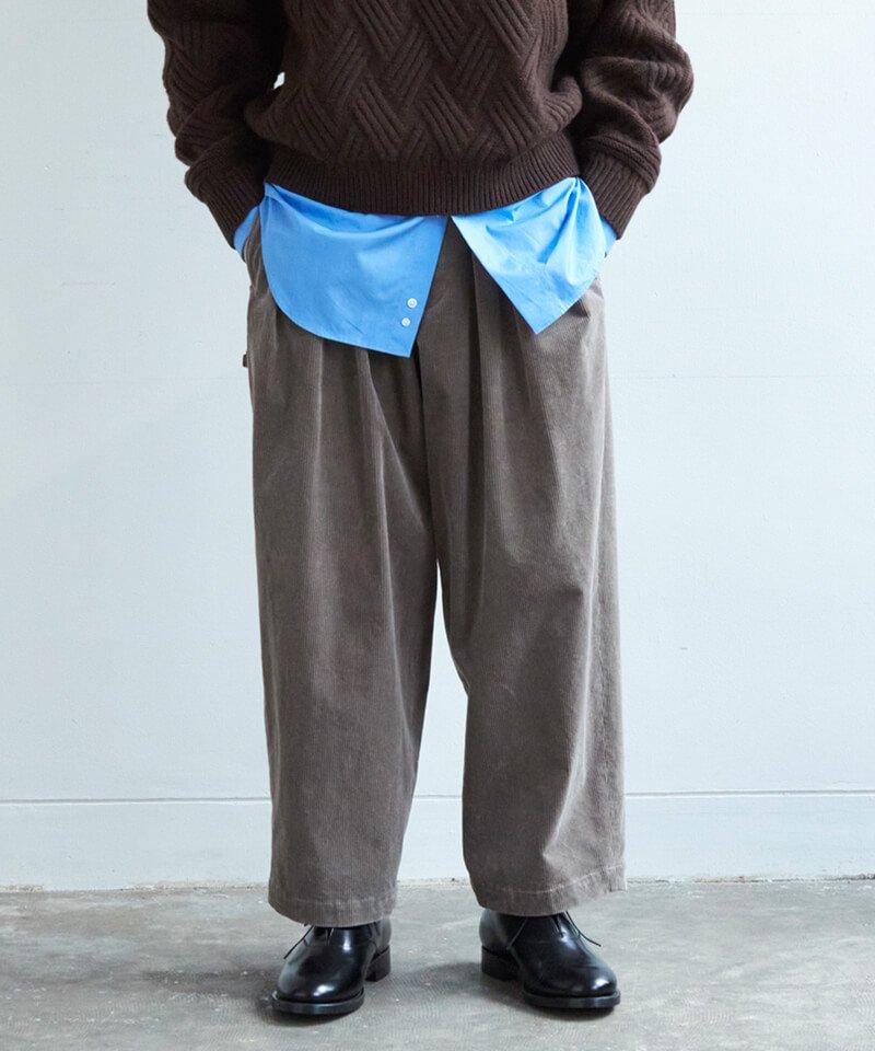 SAYATOMO / サヤトモ  HAKAMA AKANE CORDUROY PANTS (GREIGE) 商品画像5